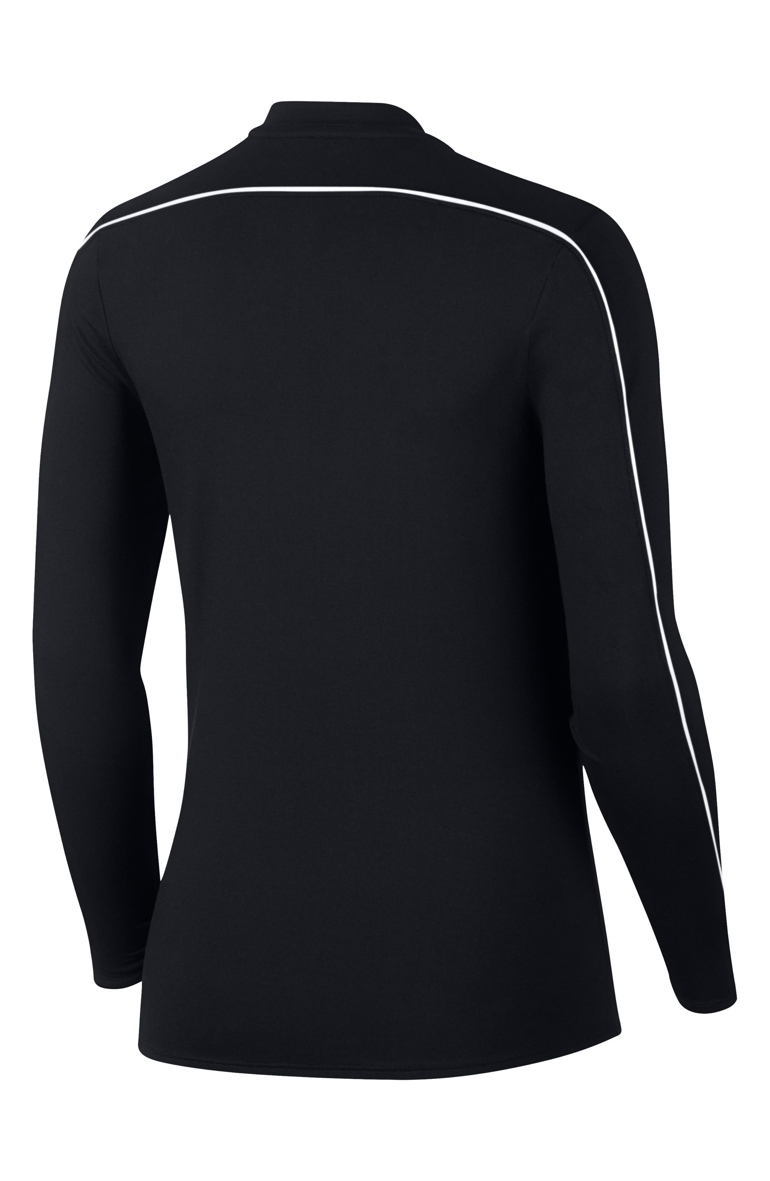 Court Dri-FIT Quarter Zip Top,                             Alternate thumbnail 8, color,                             BLACK/ WHITE/ WHITE/ BLACK