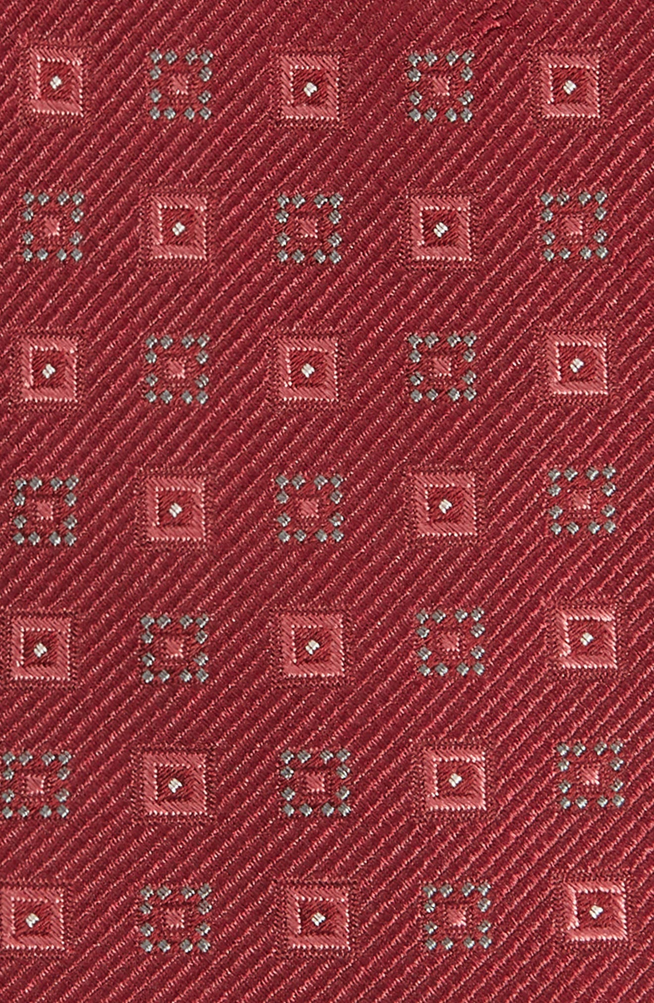 Solitaire Geometric Silk Tie,                             Alternate thumbnail 4, color,