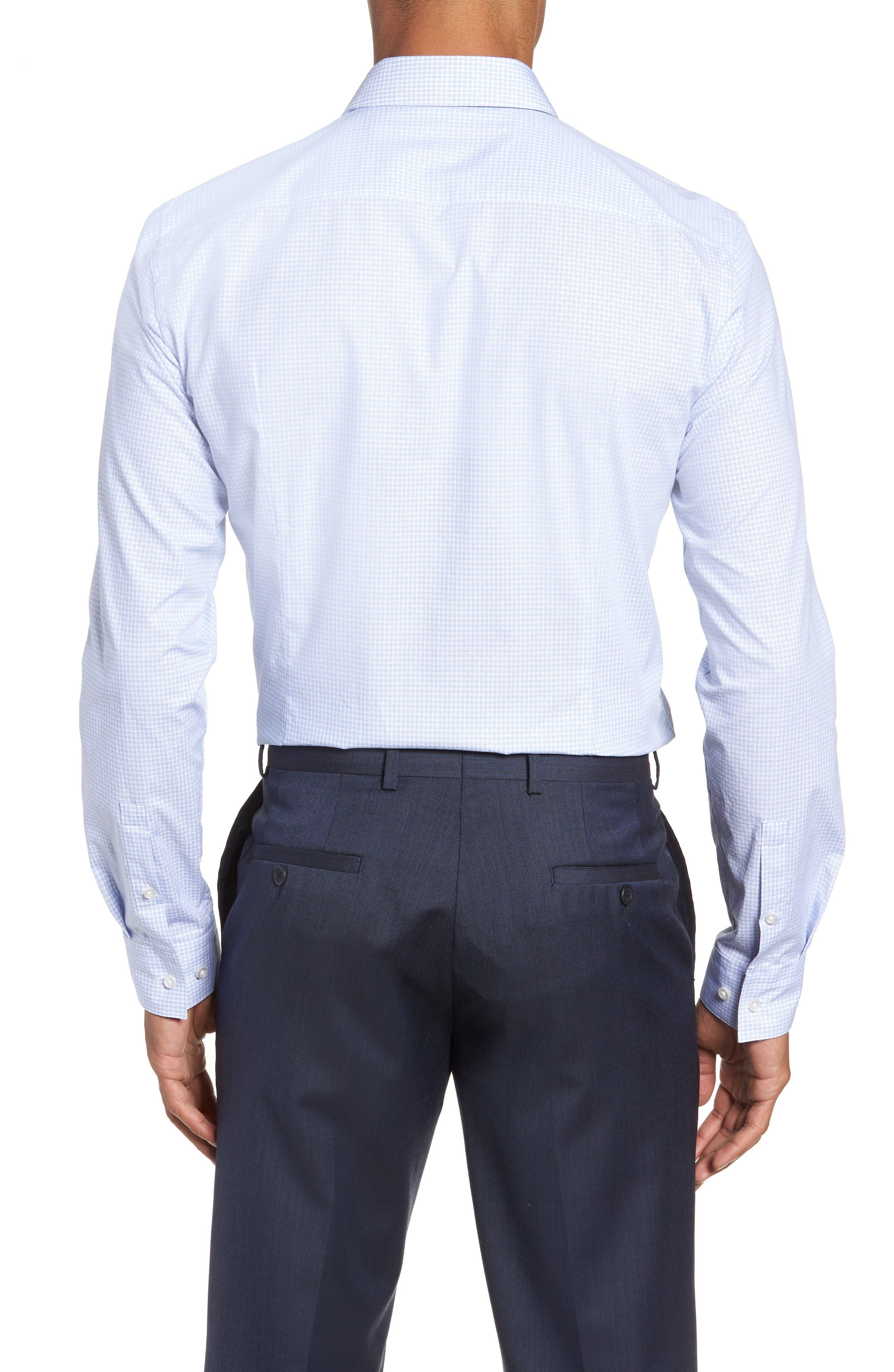 Isko Slim Fit Stretch Check Dress Shirt,                             Alternate thumbnail 3, color,                             450