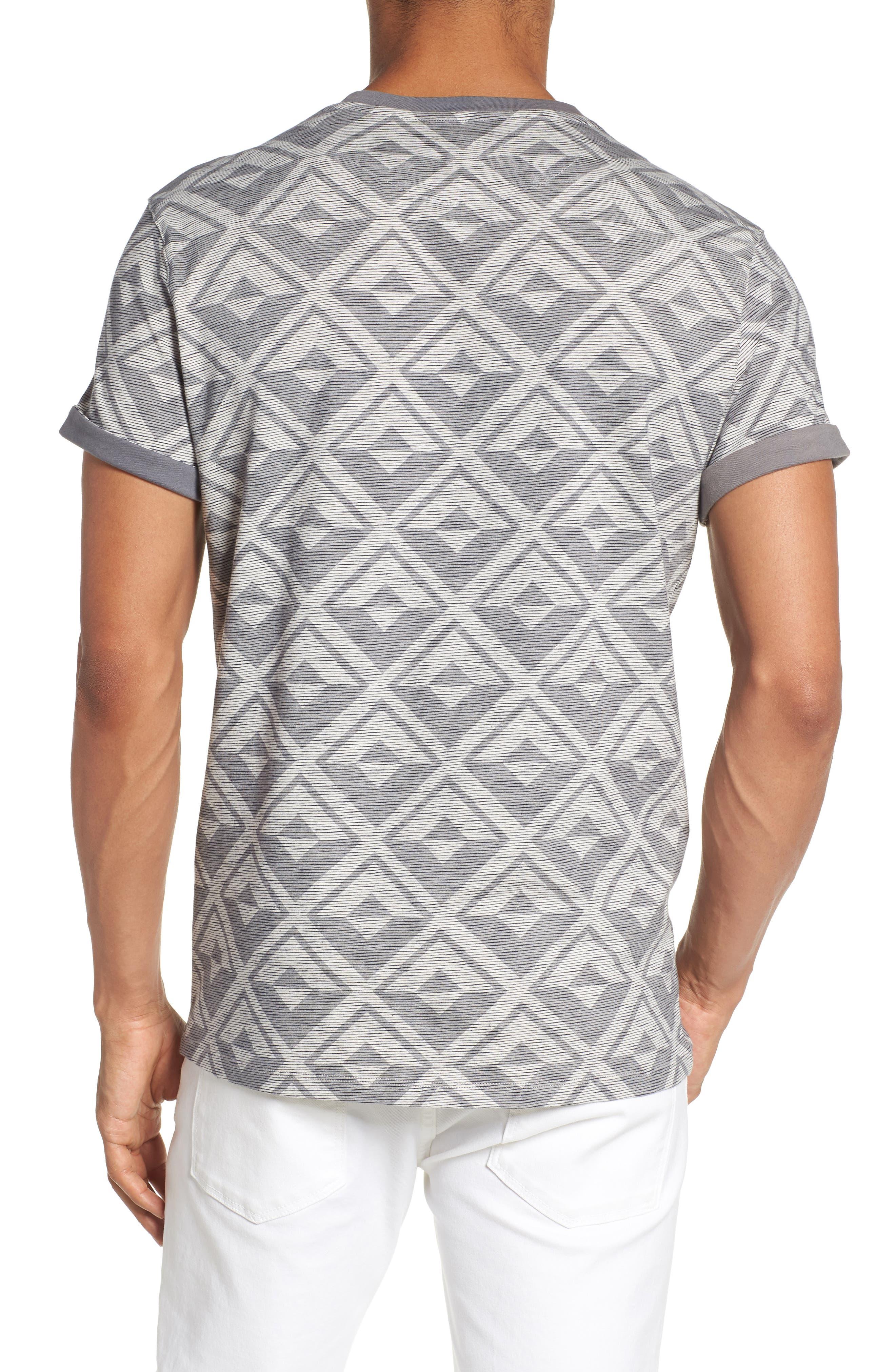 Geometric Crewneck T-Shirt,                             Alternate thumbnail 2, color,                             021
