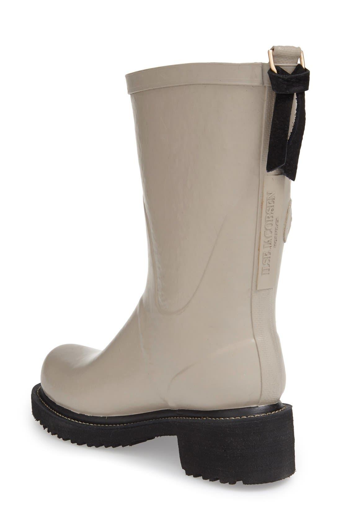 Waterproof Buckle Detail Snow/Rain Boot,                             Alternate thumbnail 4, color,