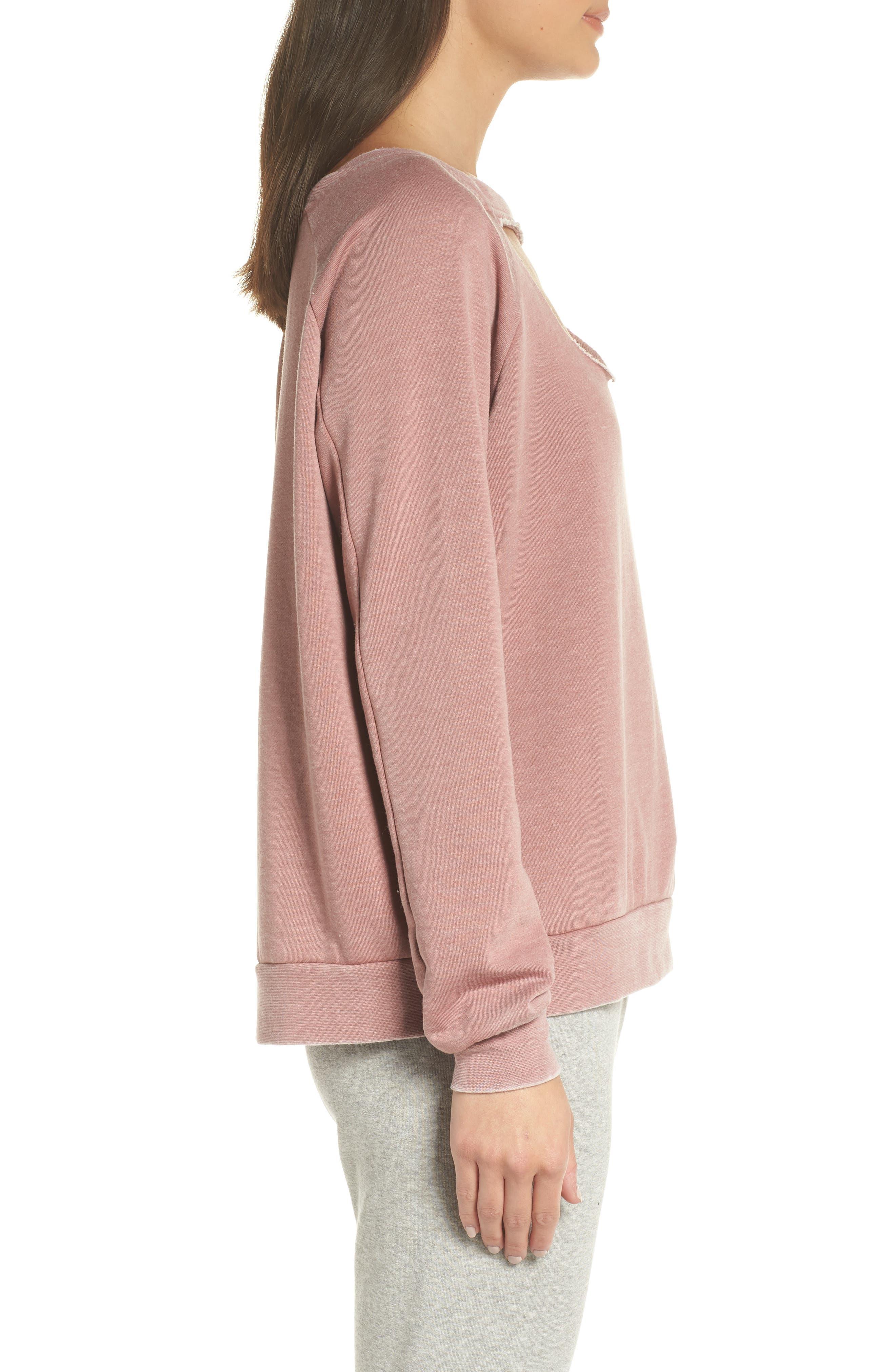 Colder Destroyed Sweatshirt,                             Alternate thumbnail 3, color,                             930