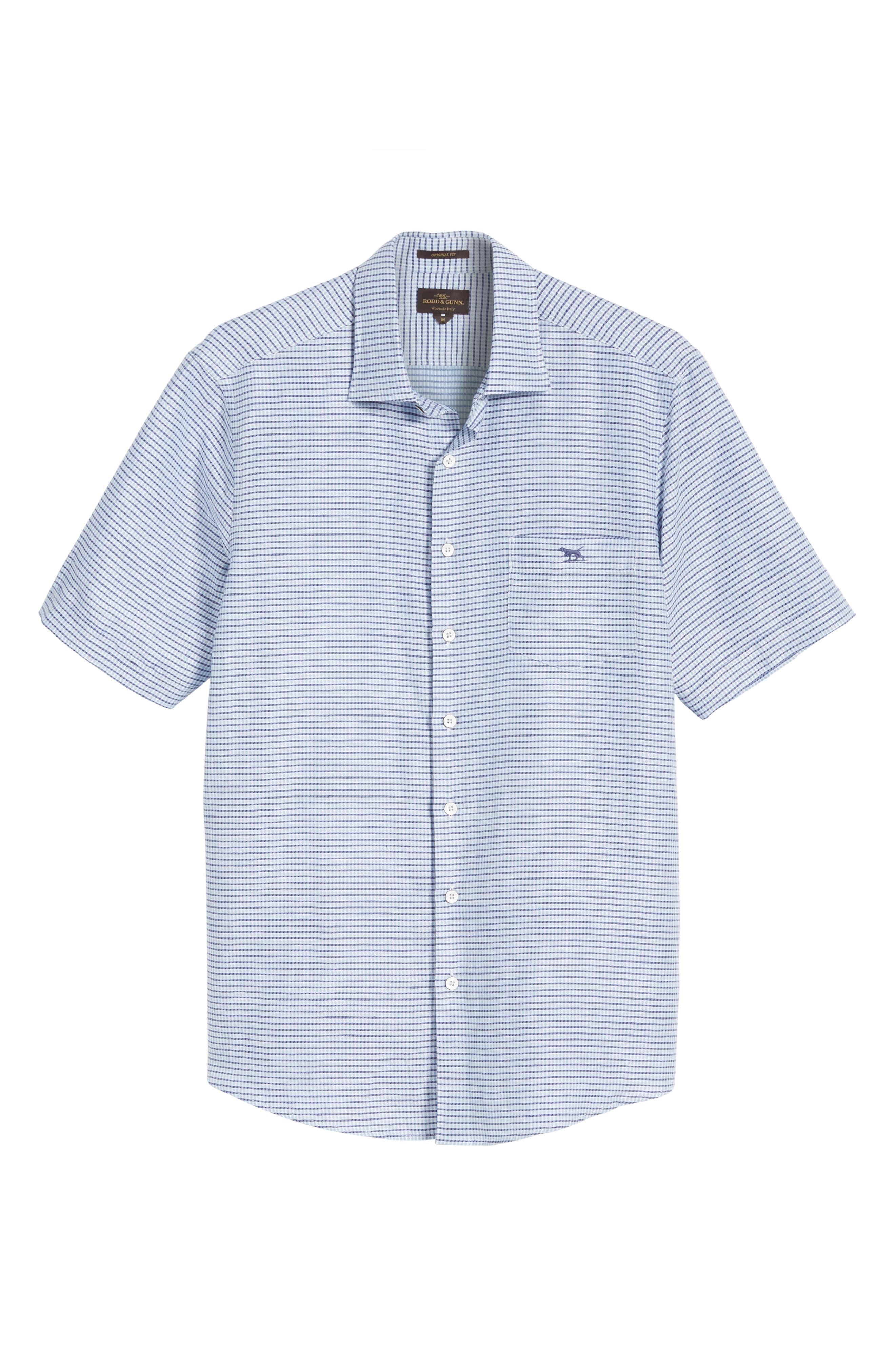 Upper Hutt Original Fit Sport Shirt,                             Alternate thumbnail 6, color,                             459