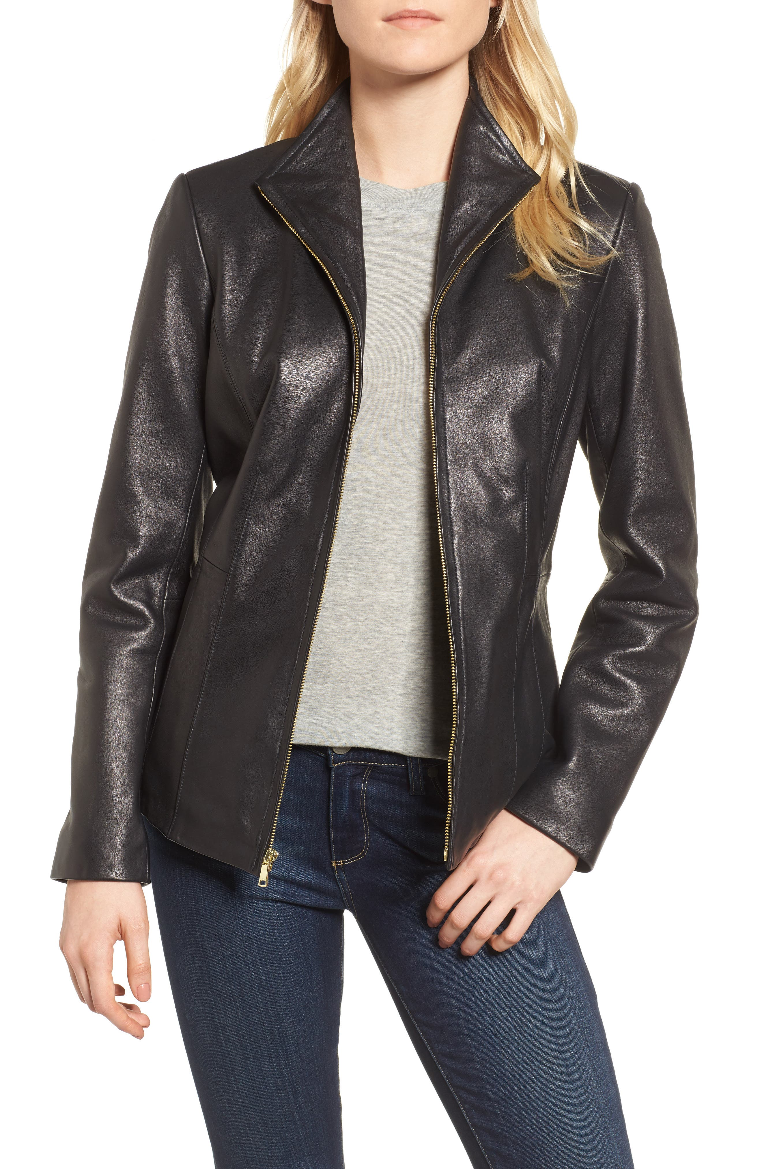 Leather Jacket,                         Main,                         color,