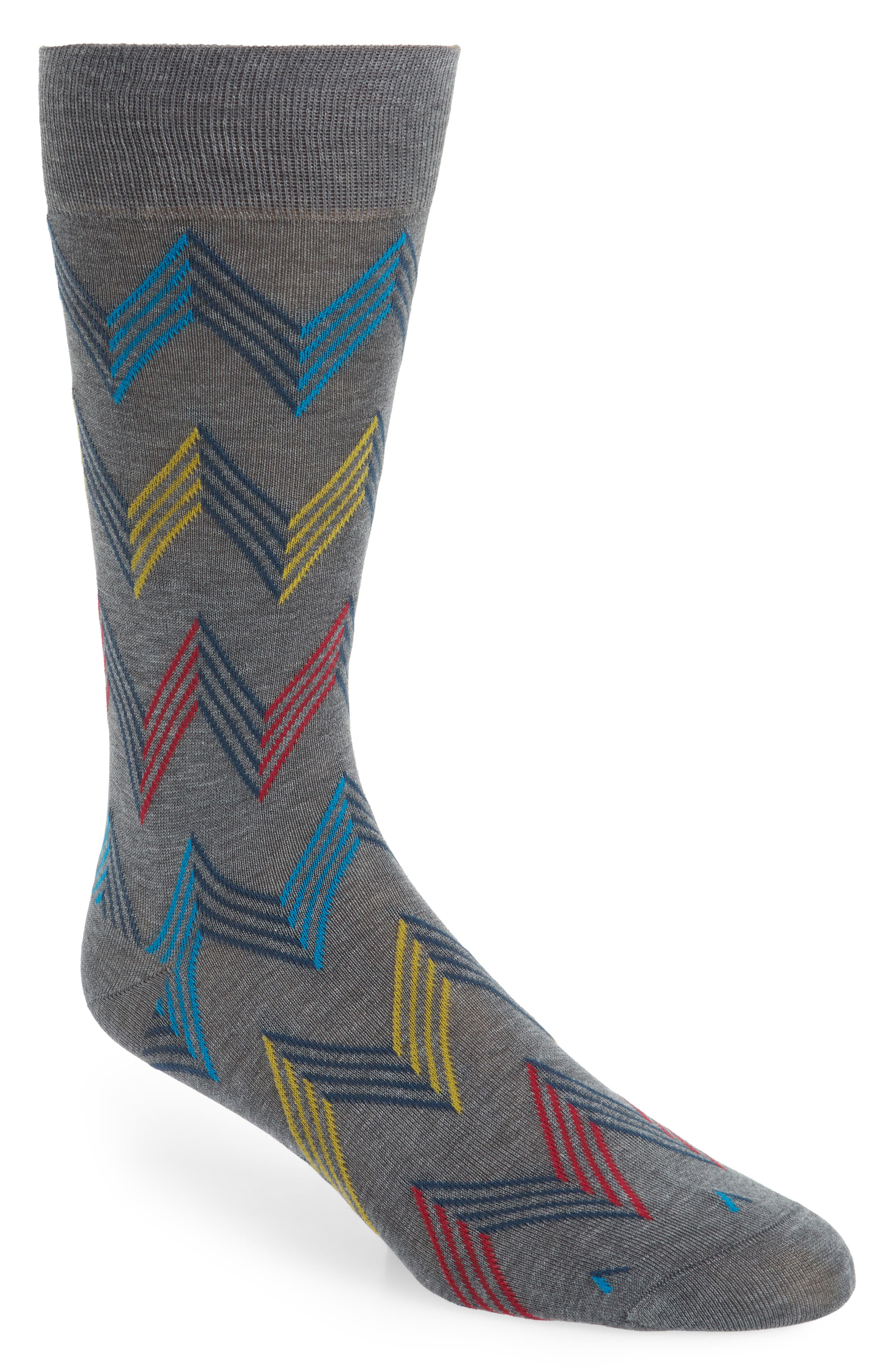 Zigzag Socks,                             Main thumbnail 1, color,                             031