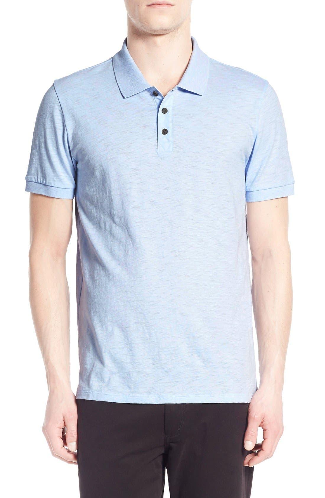 Slub Cotton Polo,                         Main,                         color, 458