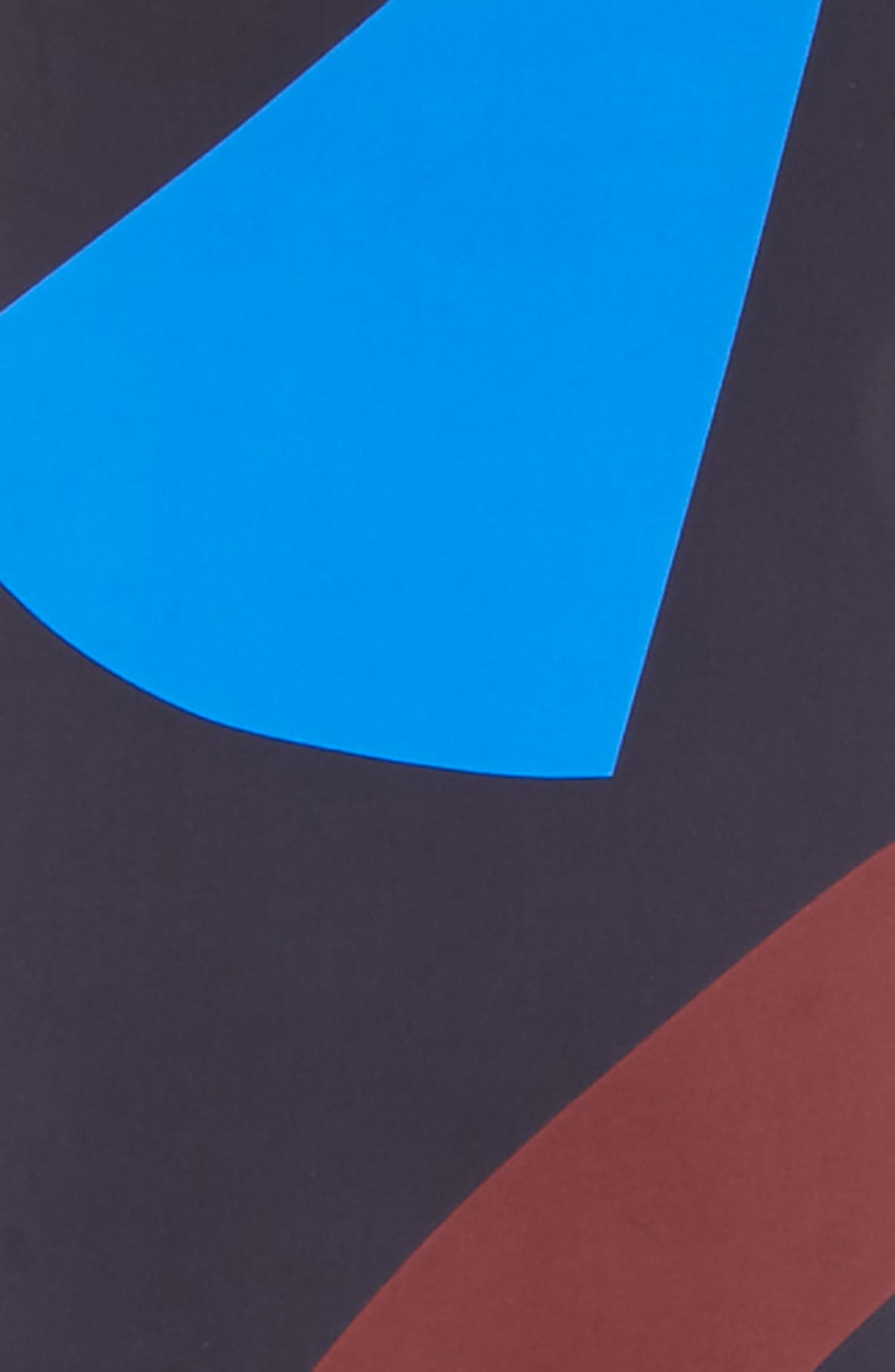 Print Silk Rectangle Scarf,                             Alternate thumbnail 3, color,                             400