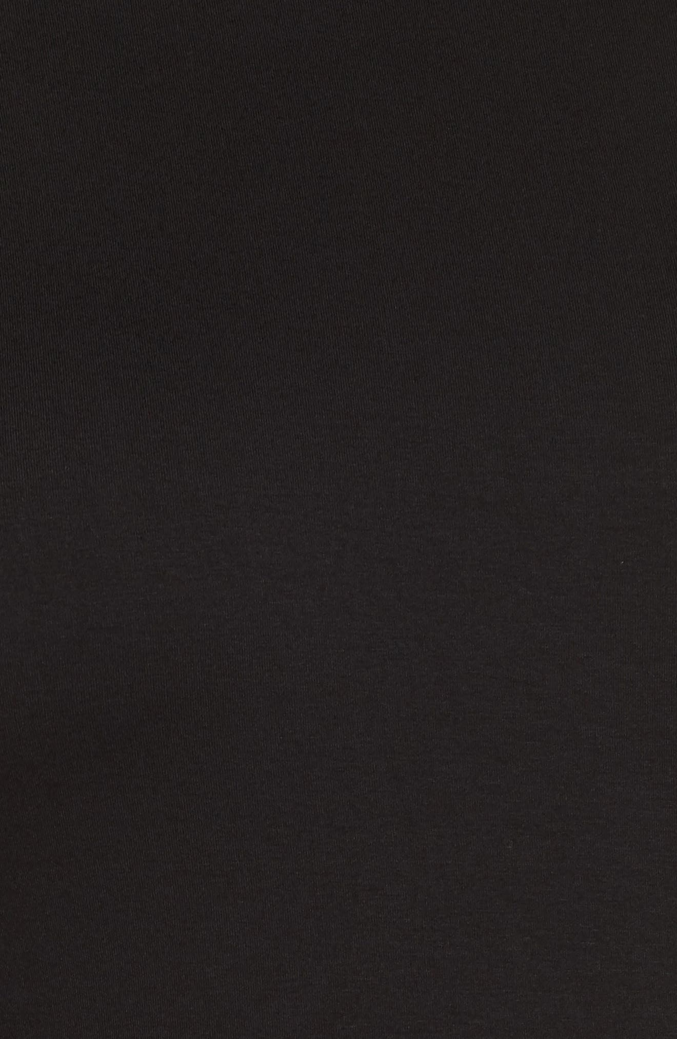 Bubble Sleeve Top,                             Alternate thumbnail 5, color,                             RICH BLACK