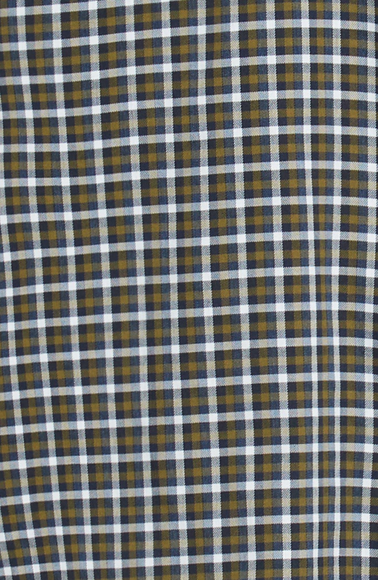Tech-Smart Slim Fit Check Sport Shirt,                             Alternate thumbnail 6, color,                             NAVY NIGHT OLIVE CHECK