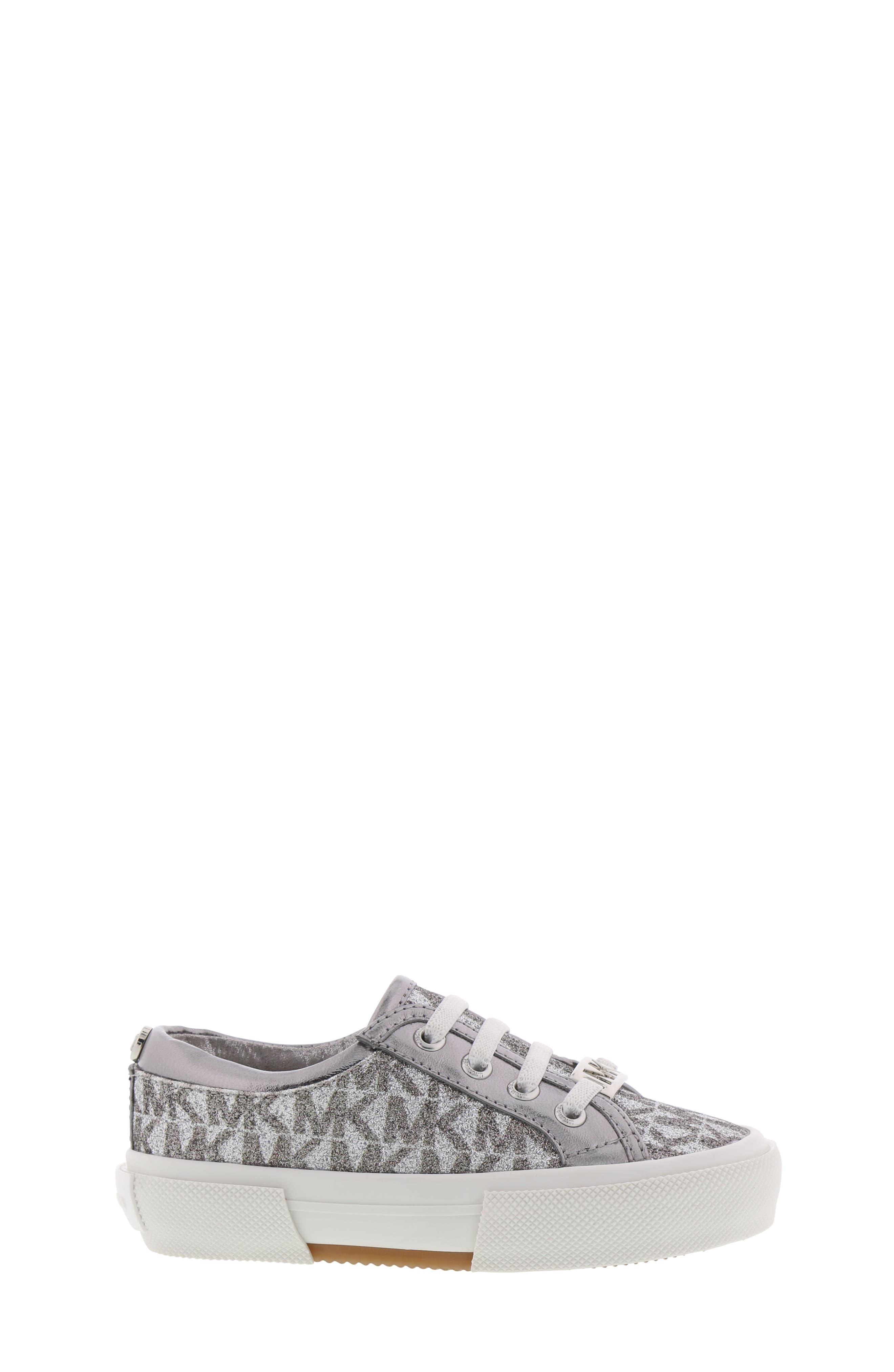 MICHAEL MICHAEL KORS,                             Ima Tinsel Sneaker,                             Alternate thumbnail 3, color,                             GUNMETAL