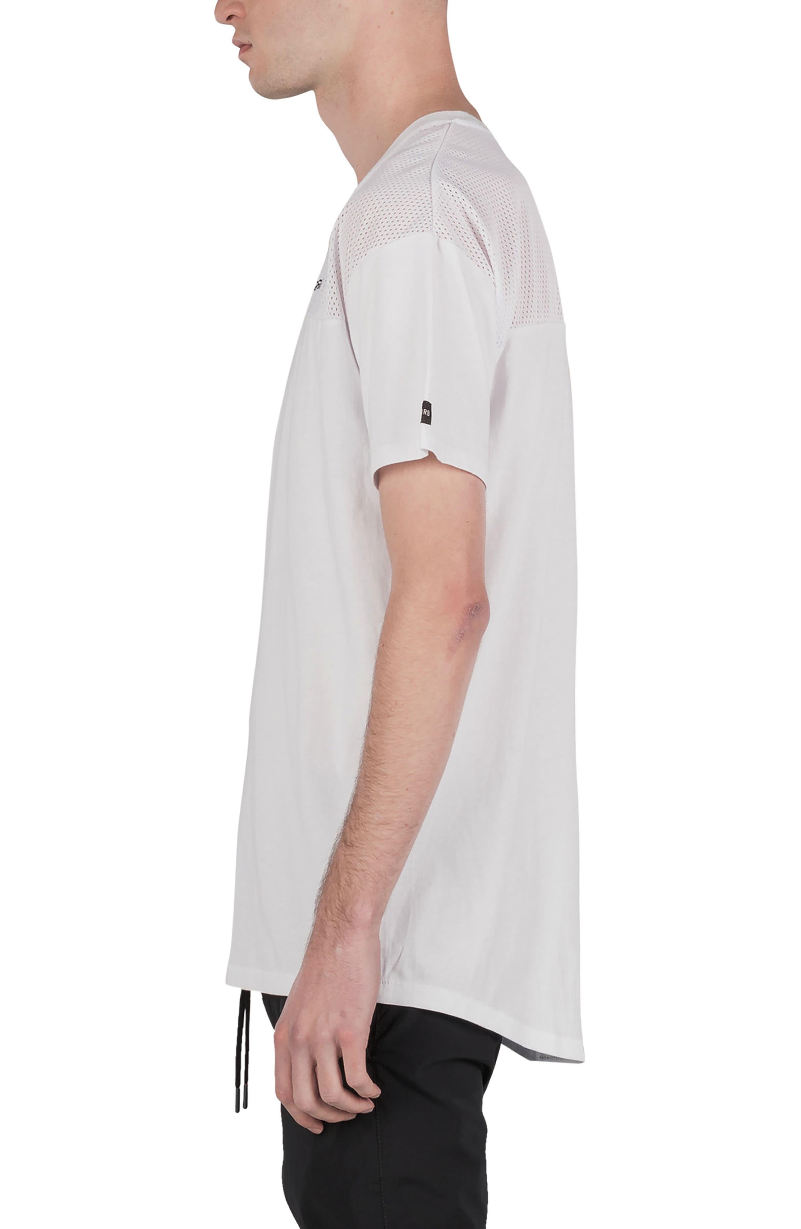 Mesh Rugger T-Shirt,                             Alternate thumbnail 3, color,                             100