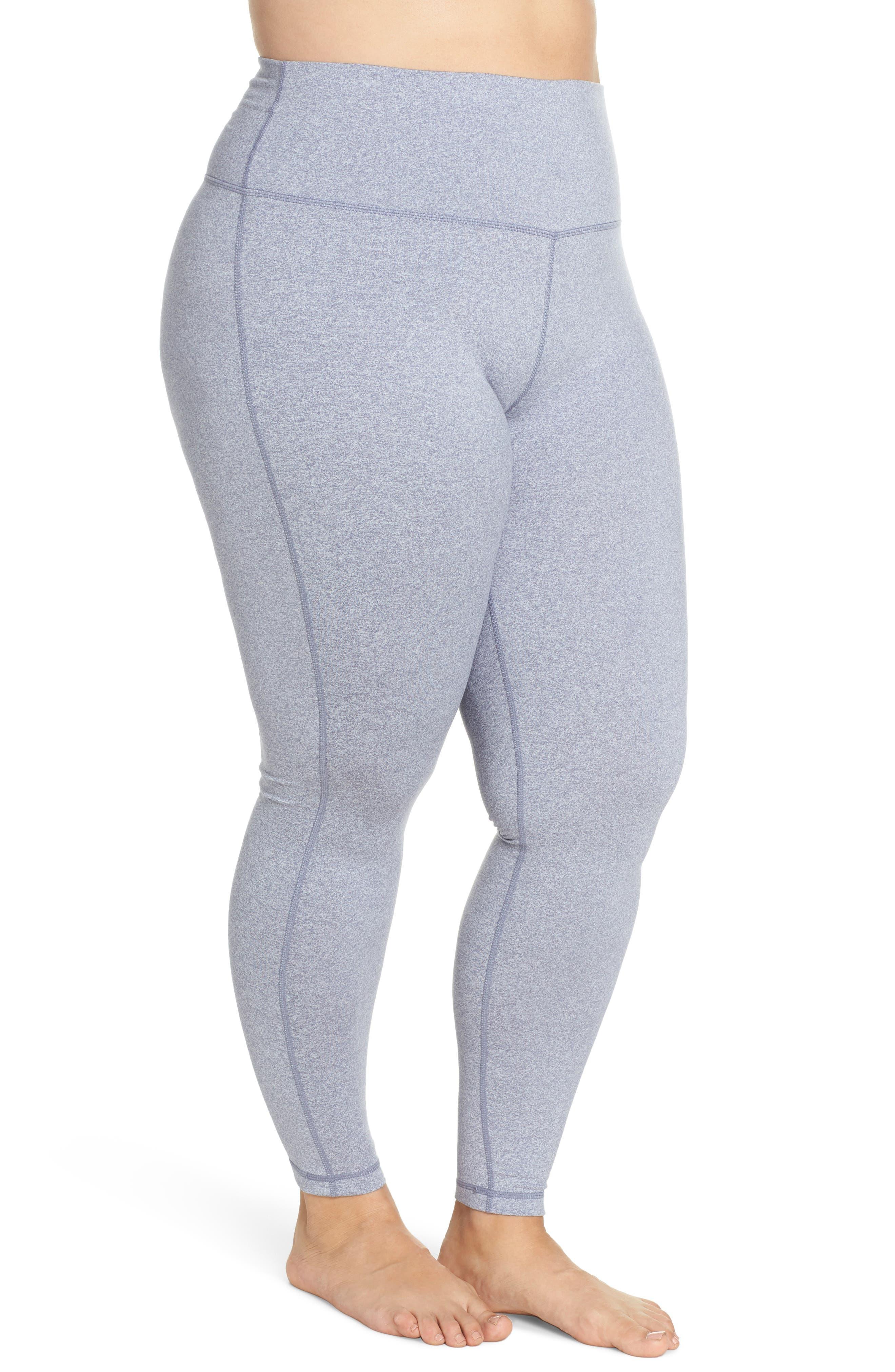 Ultrasoft Recycled High Waist Leggings,                             Alternate thumbnail 3, color,                             GREY GRANITE