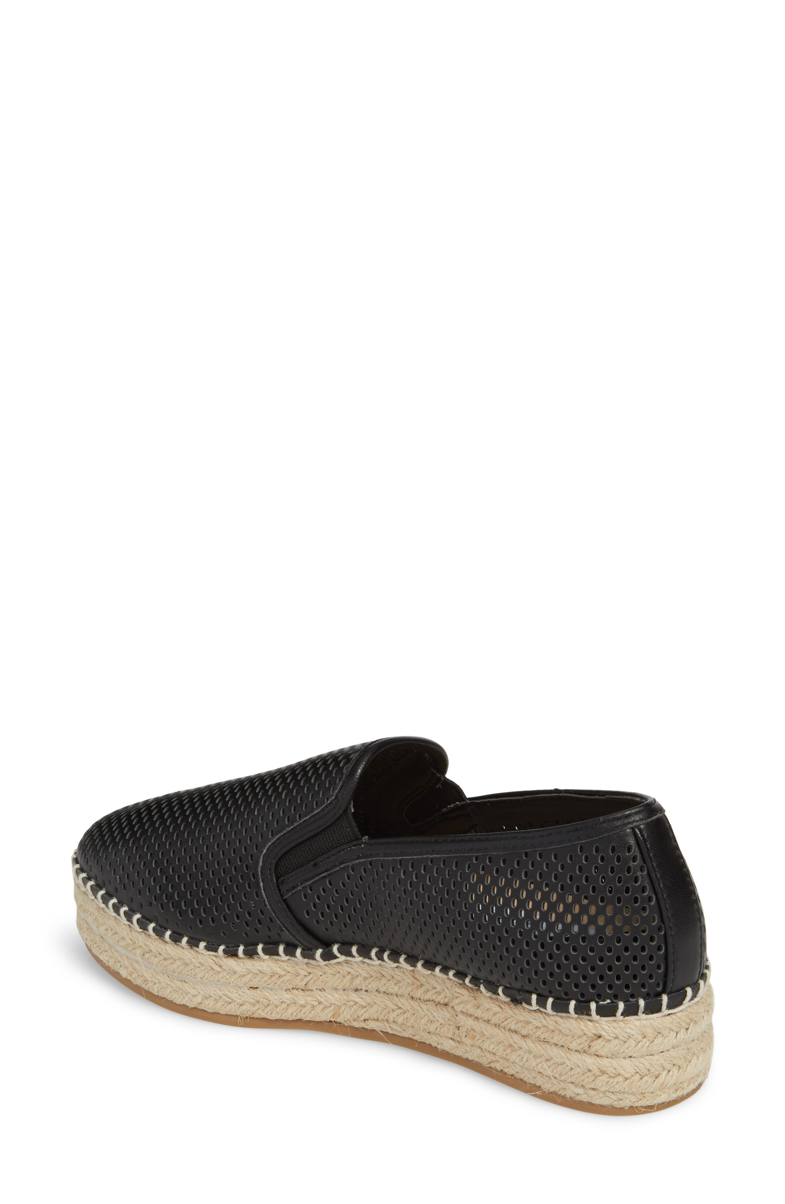 Wright Perforated Platform Espadrille,                             Alternate thumbnail 2, color,                             001