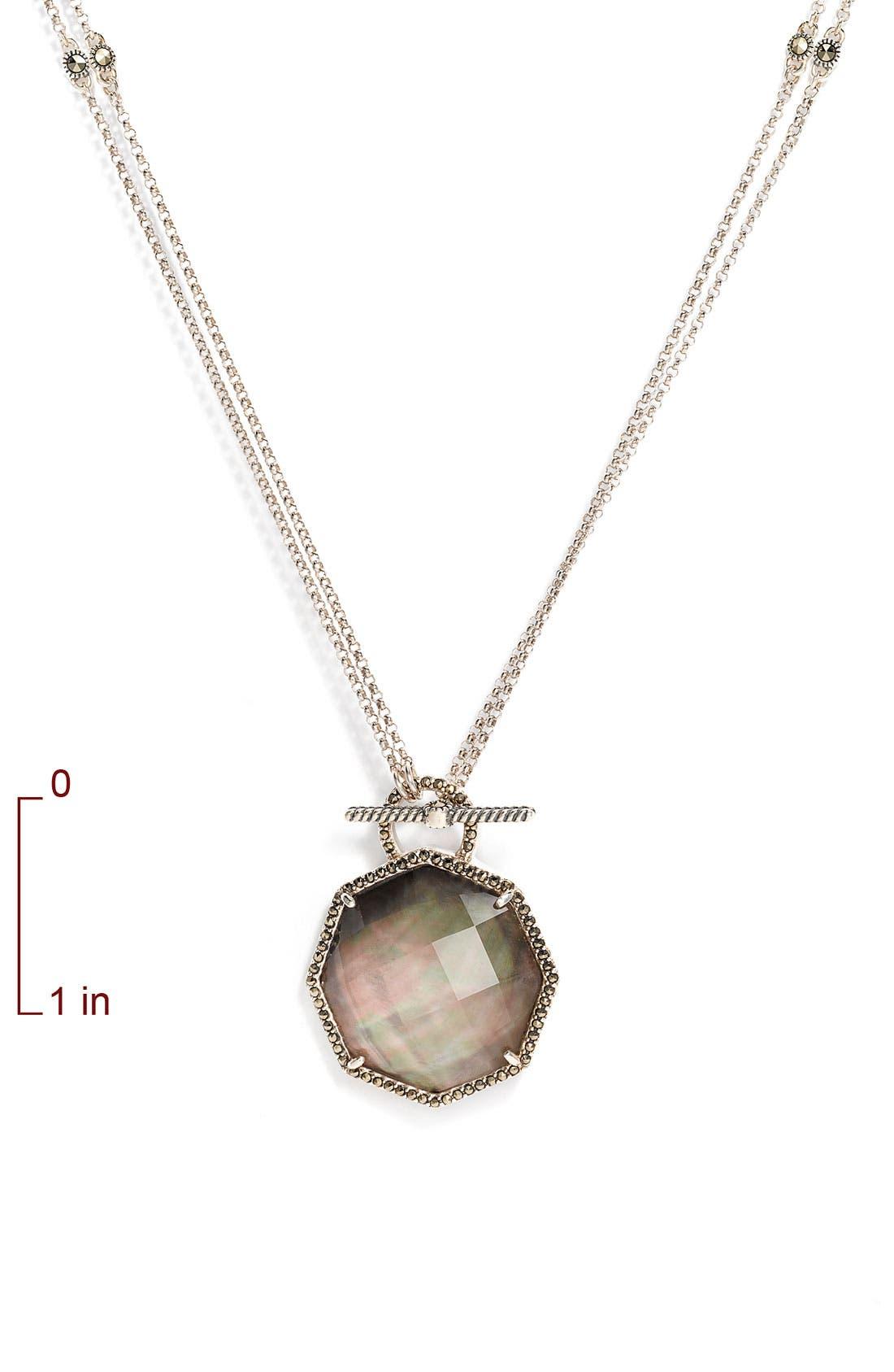'Medallions' Semiprecious Convertible Necklace,                             Alternate thumbnail 2, color,                             001