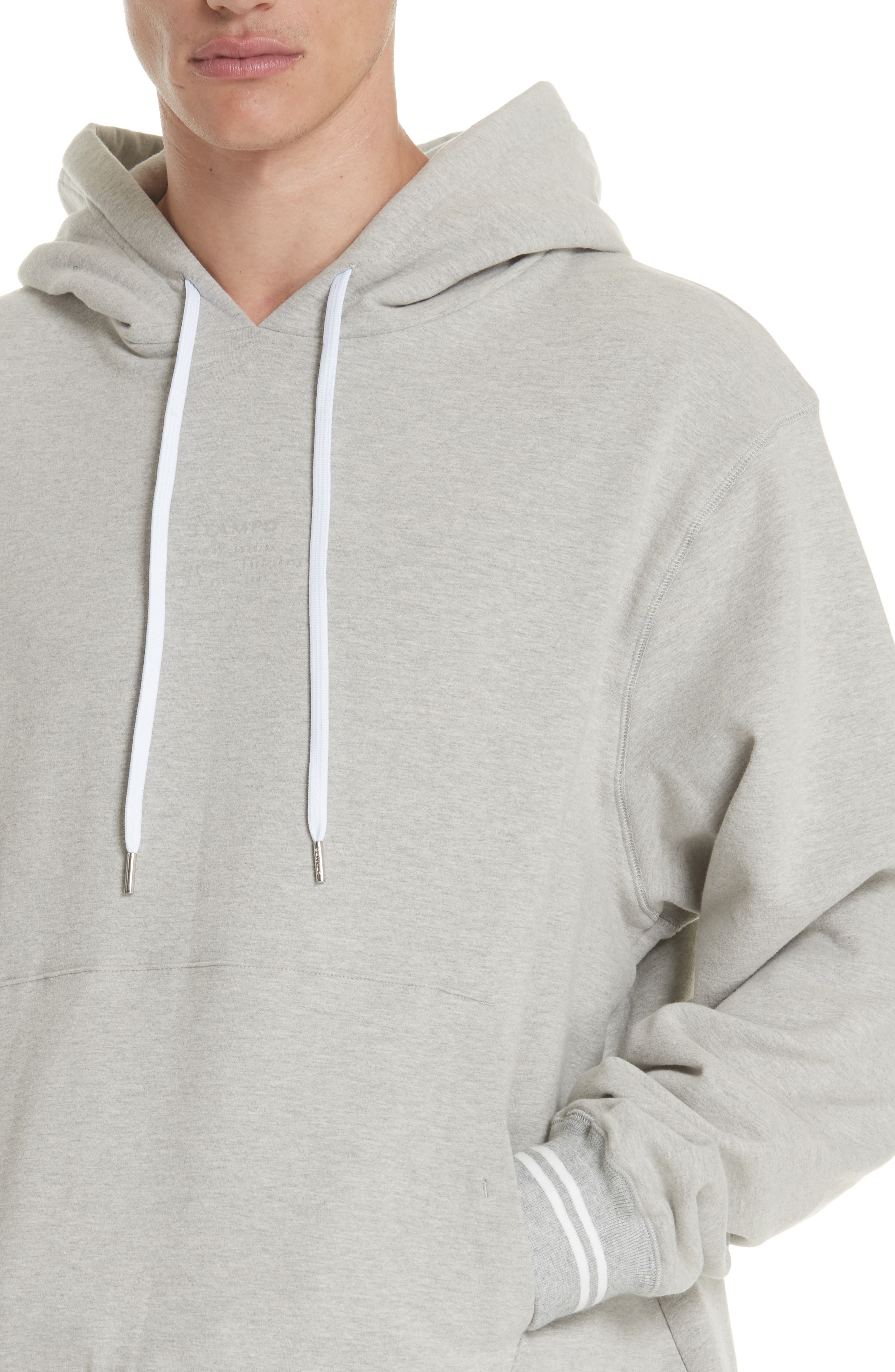 Oversize Hoodie,                             Alternate thumbnail 4, color,                             HEATHER GREY