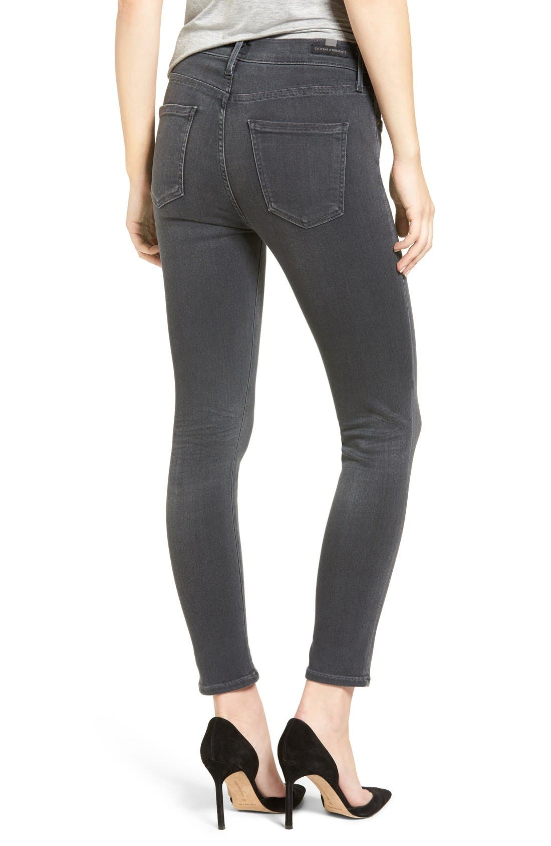Rocket High Waist Crop Skinny Jeans,                             Alternate thumbnail 2, color,                             002