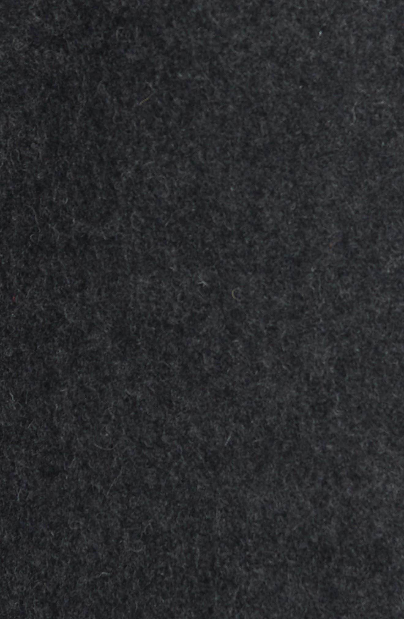 Slim Fit Melton Wool Blend Peacoat,                             Alternate thumbnail 6, color,                             022