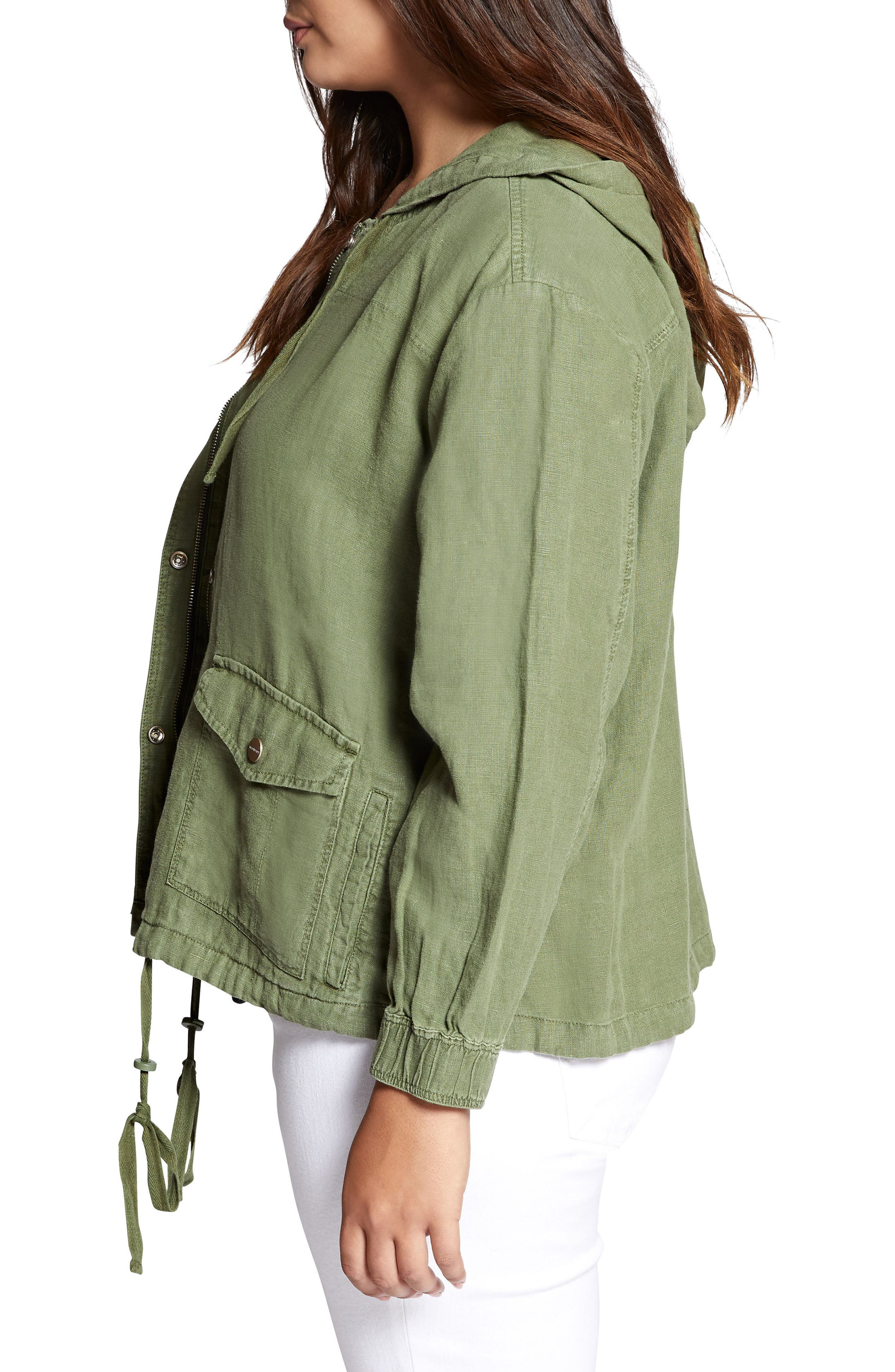 Nova Hooded Jacket,                             Alternate thumbnail 3, color,                             CADET