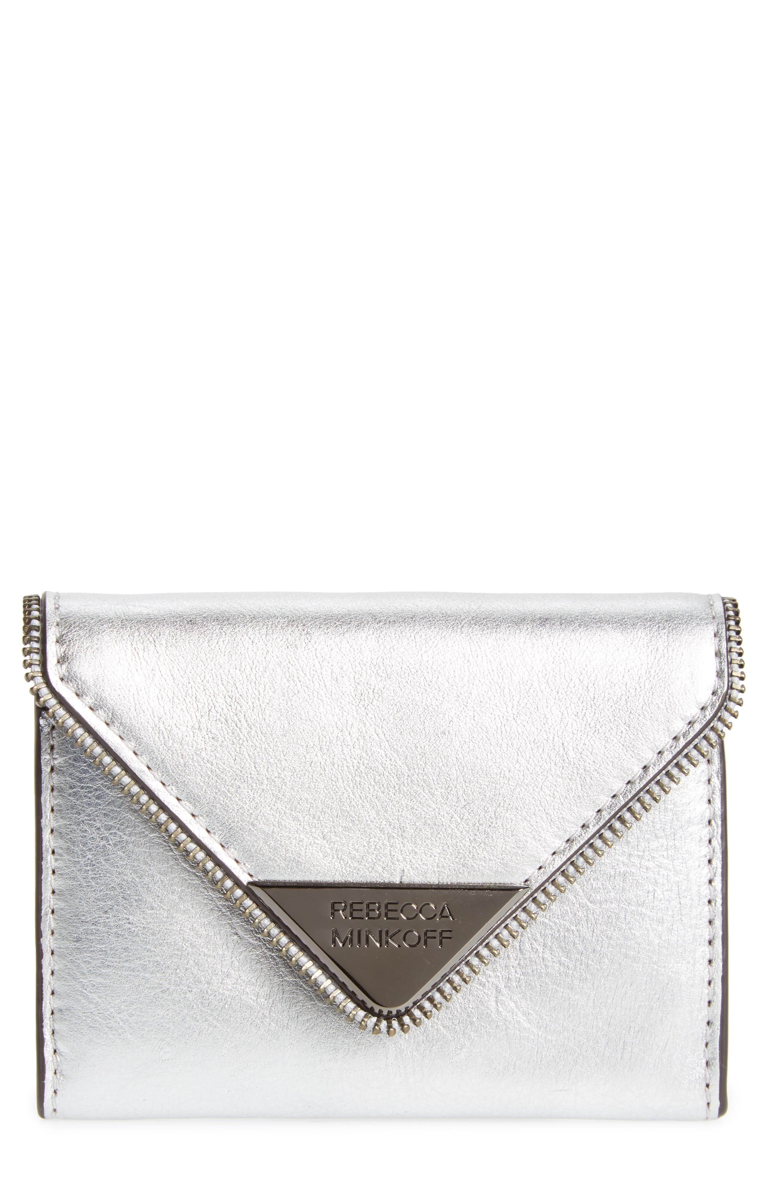 Molly Metro Metallic Leather Wallet,                             Main thumbnail 1, color,                             040