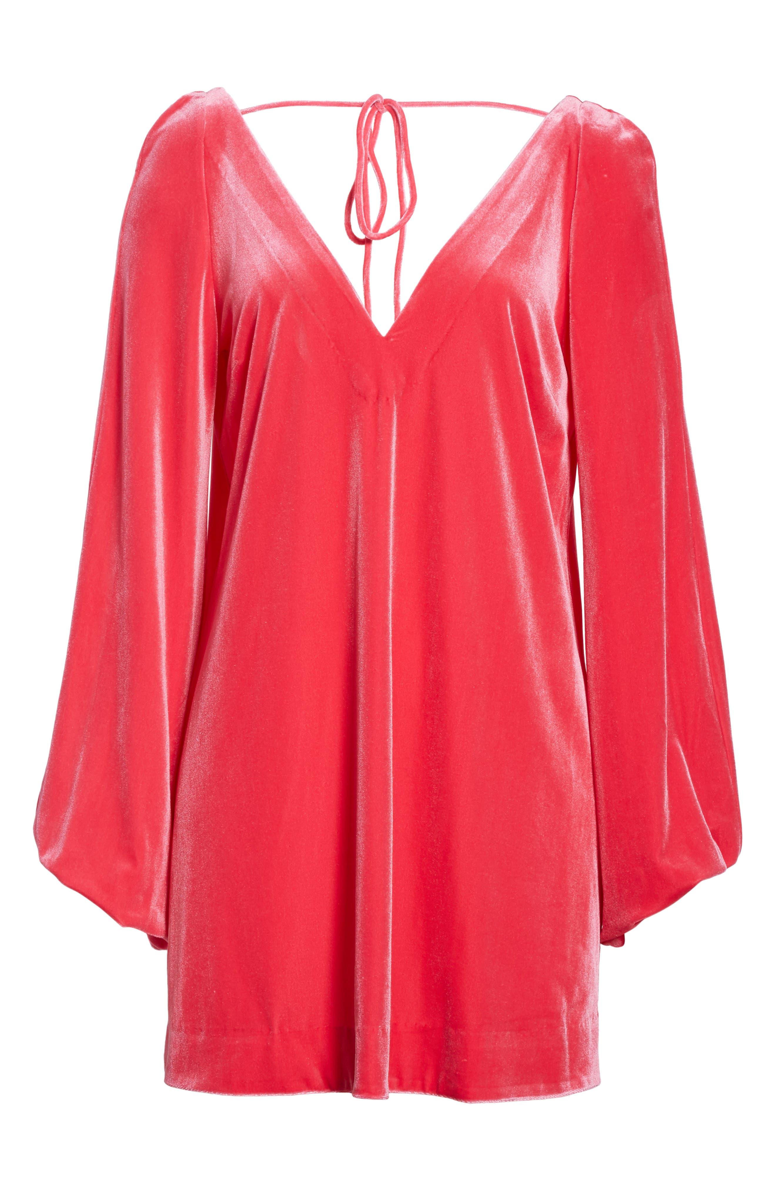 Misha Velvet Minidress,                             Alternate thumbnail 17, color,