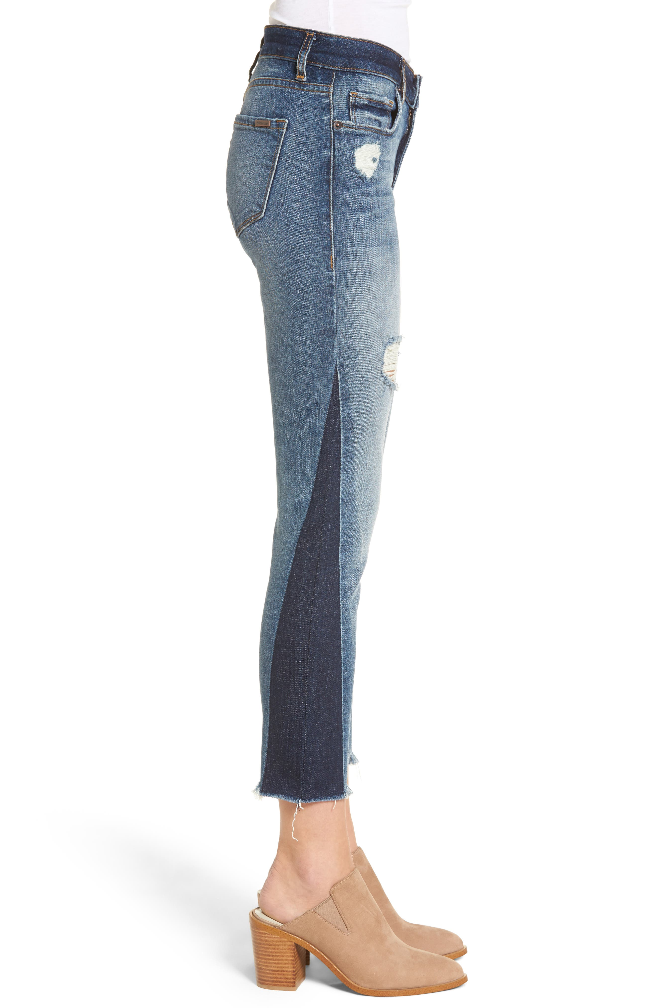 Taylor Colorblock Straight Leg Jeans,                             Alternate thumbnail 3, color,