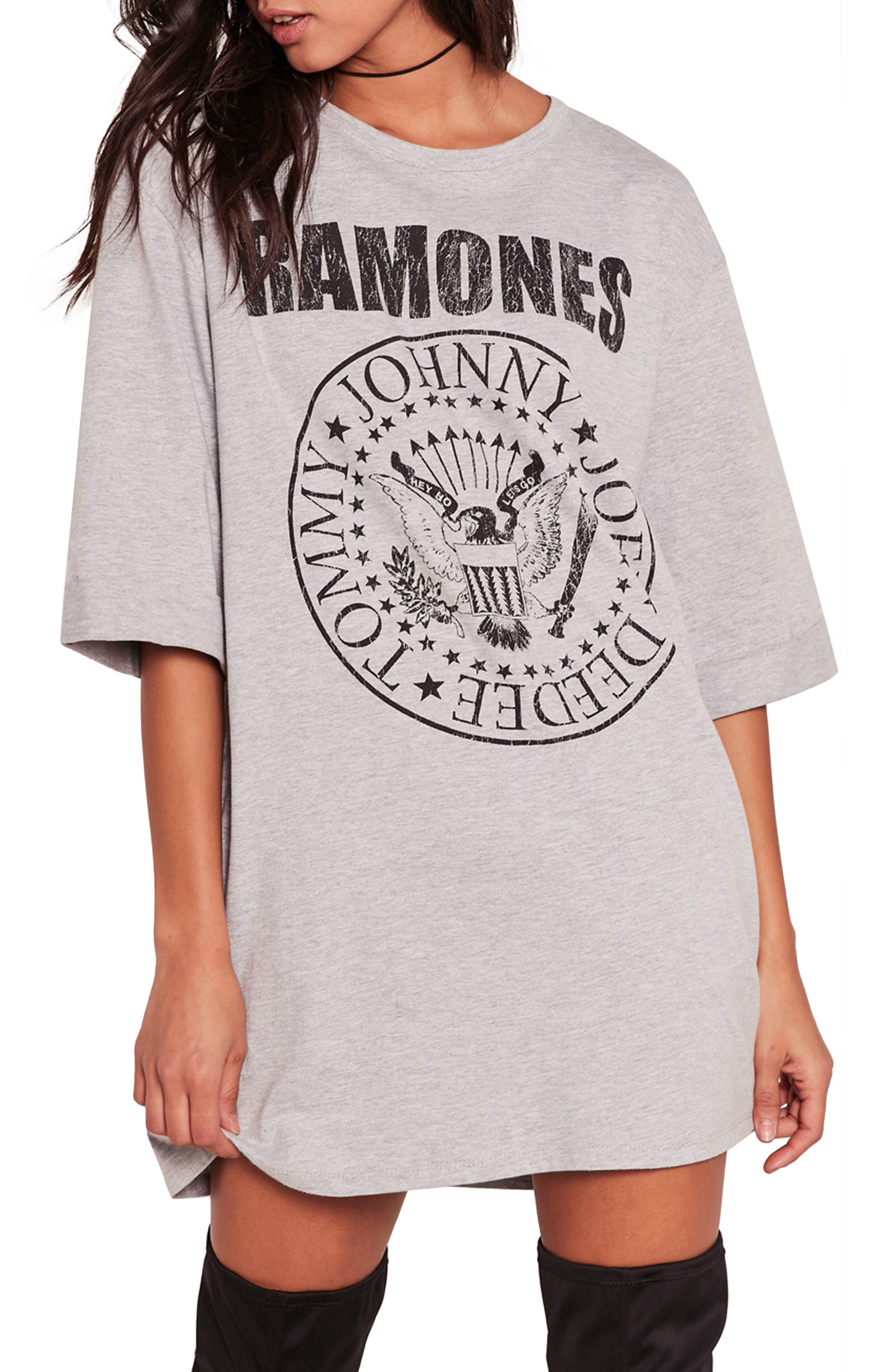Ramones T-Shirt Dress,                         Main,                         color, 060