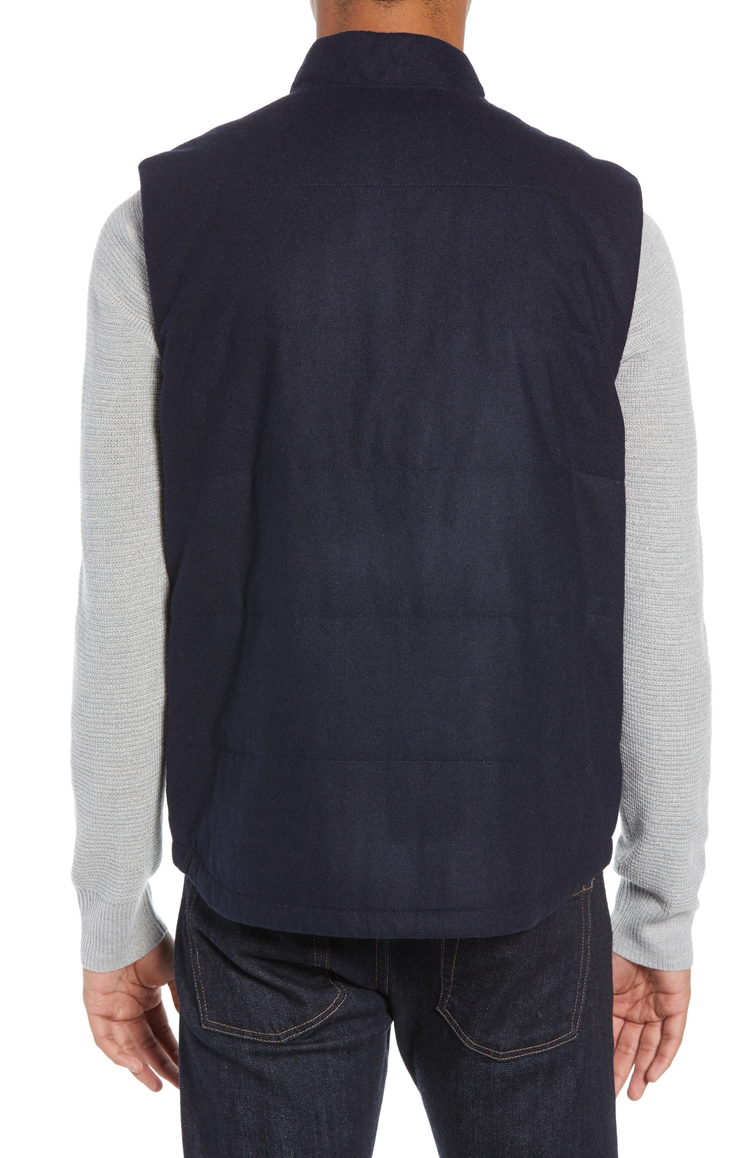 Recycled Woolyester Vest,                             Alternate thumbnail 2, color,                             CLASSIC NAVY