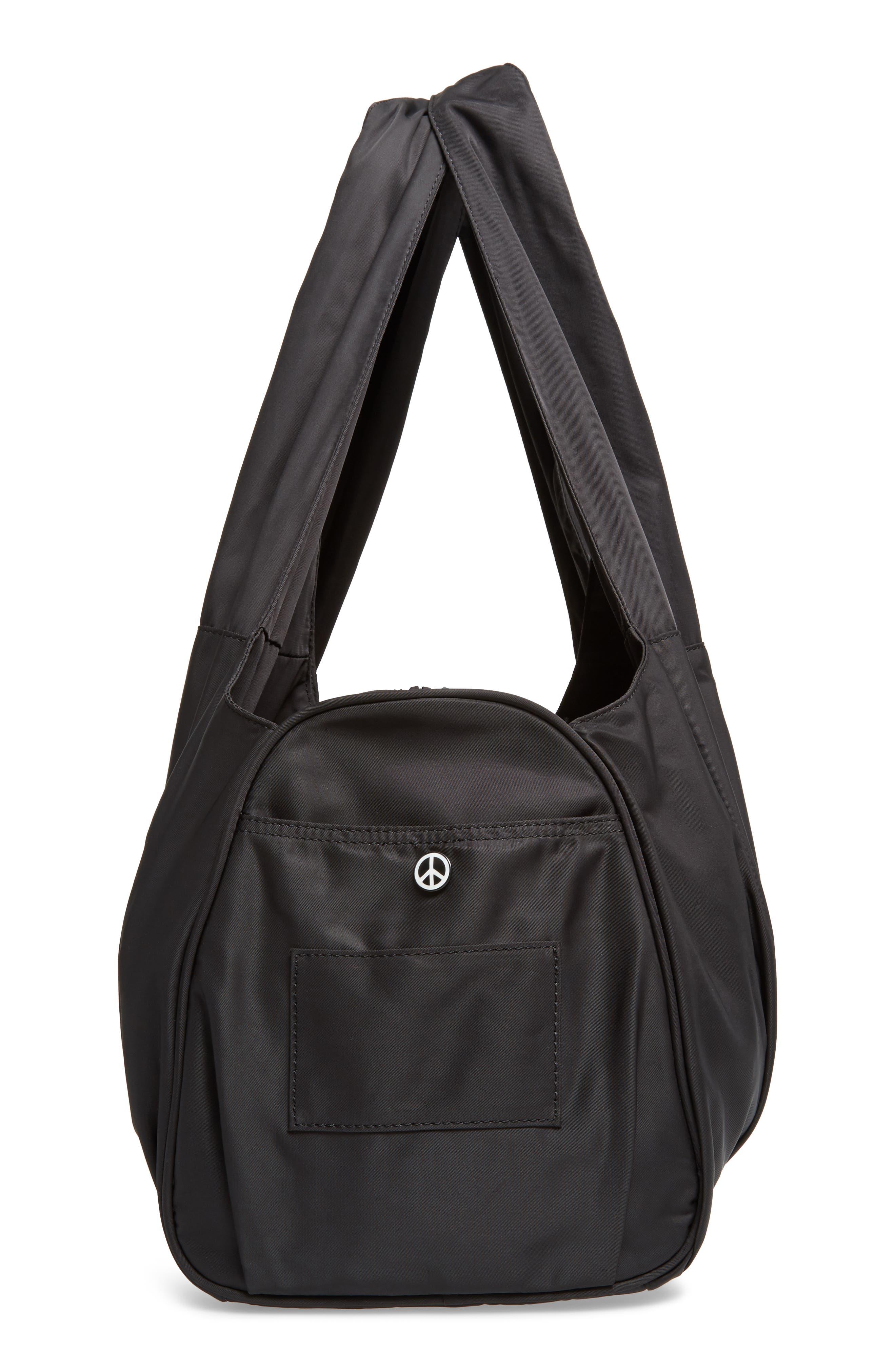 Nylon Duffel Bag,                             Alternate thumbnail 5, color,                             001