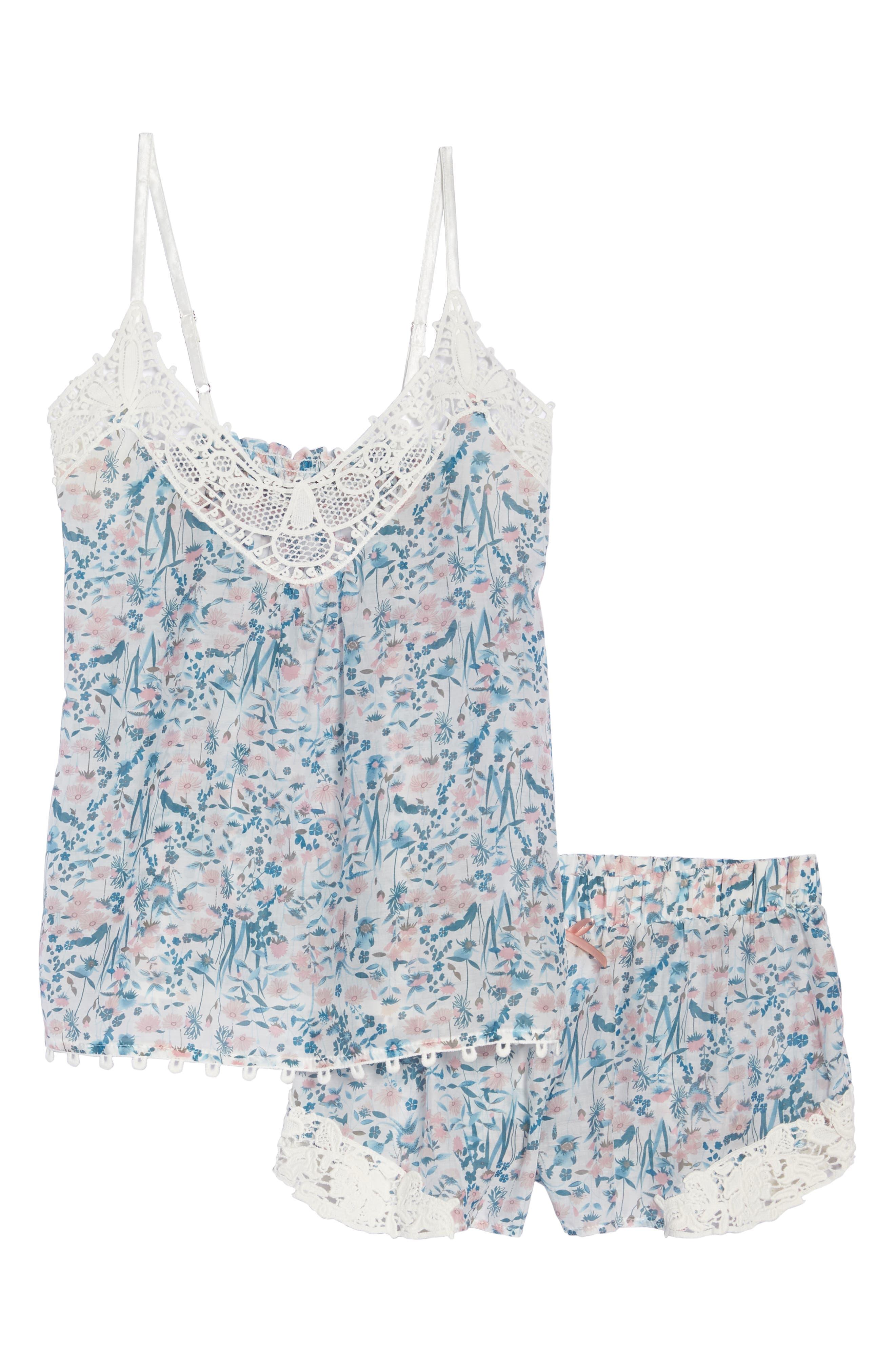 Ellie Short Pajamas,                             Alternate thumbnail 6, color,                             BLUE