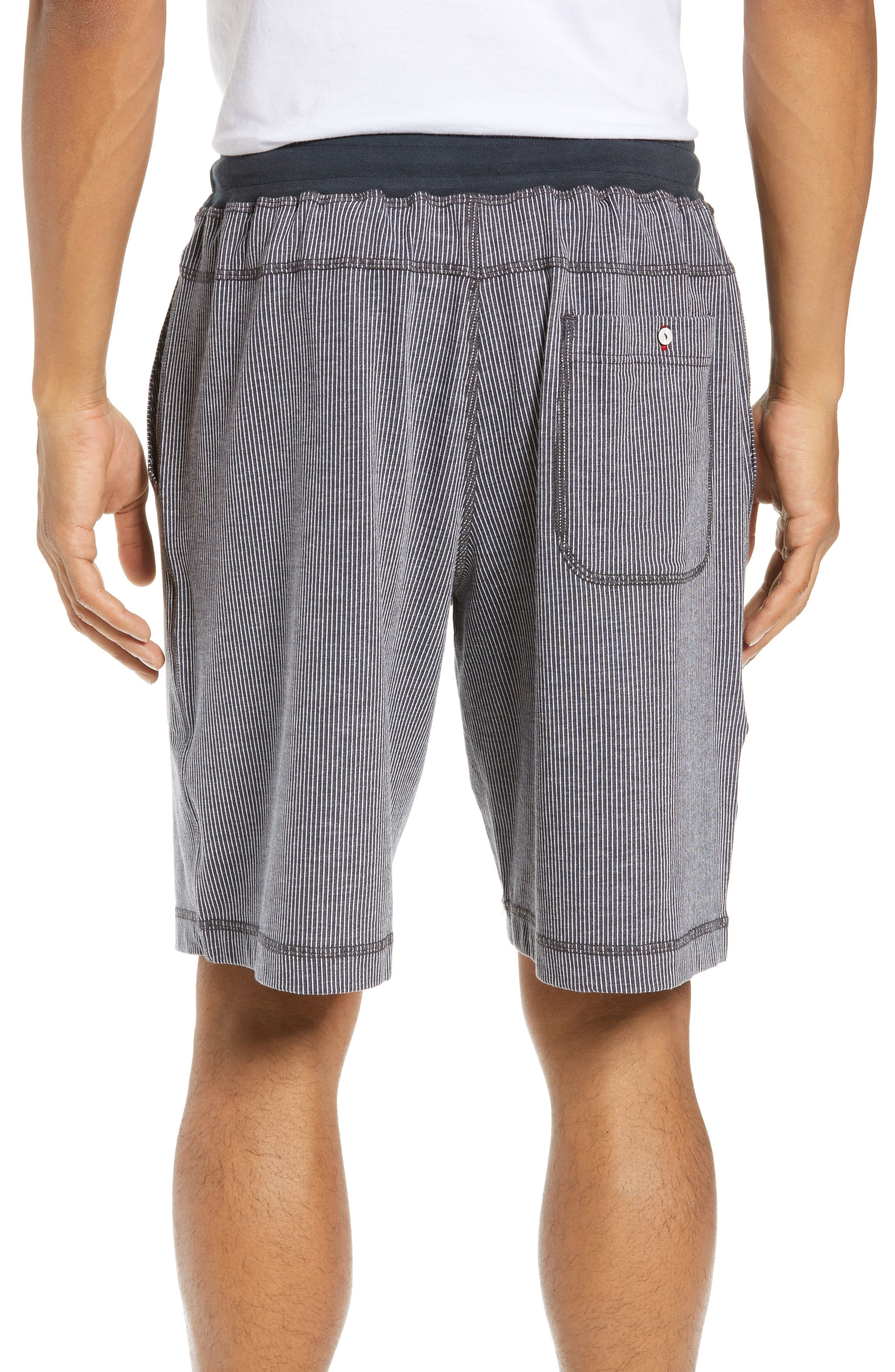 Pinstripe Shorts,                             Alternate thumbnail 2, color,                             CHARCOAL