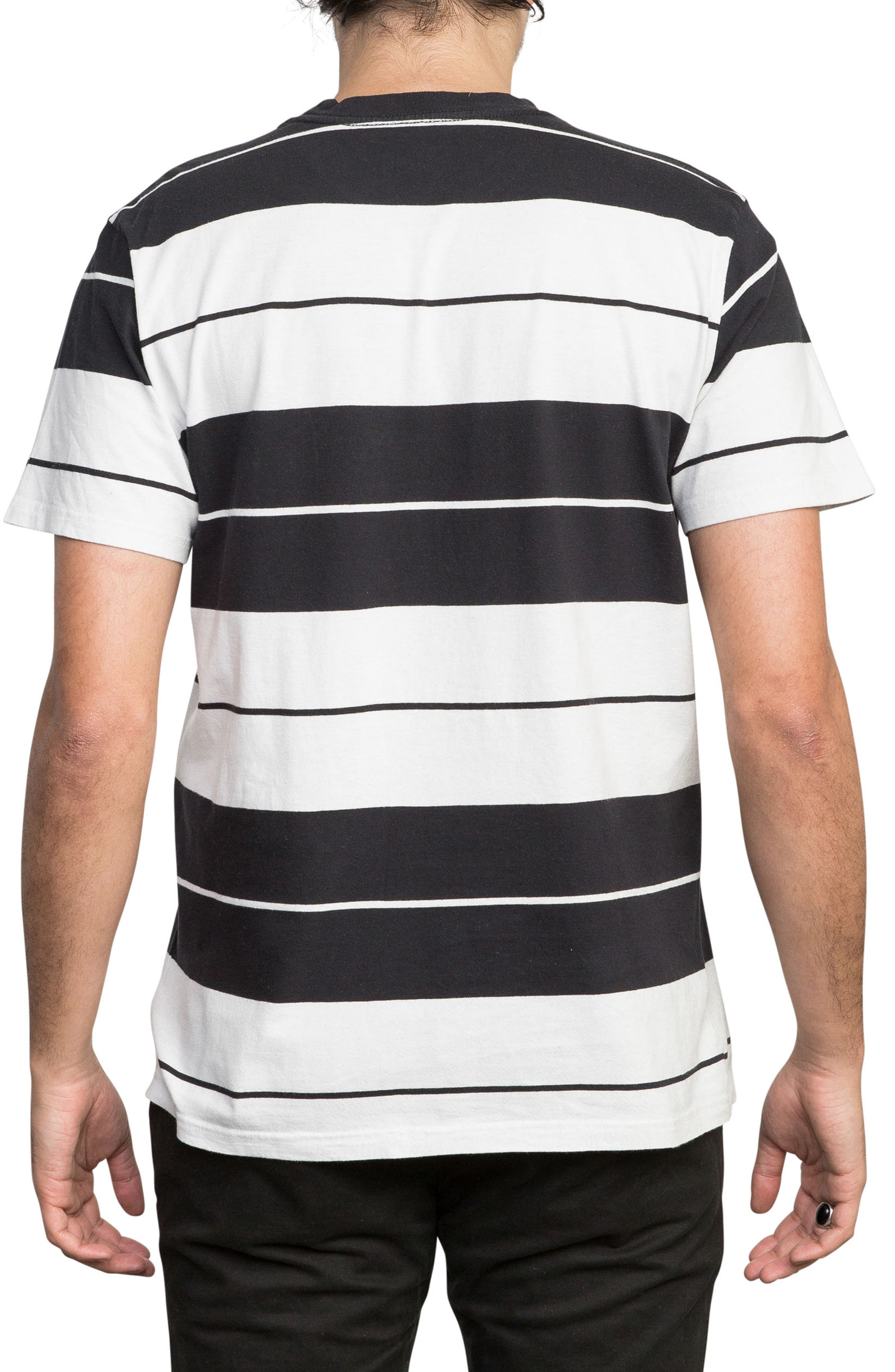 Ellis Stripe Pocket T-Shirt,                             Alternate thumbnail 2, color,                             BLACK