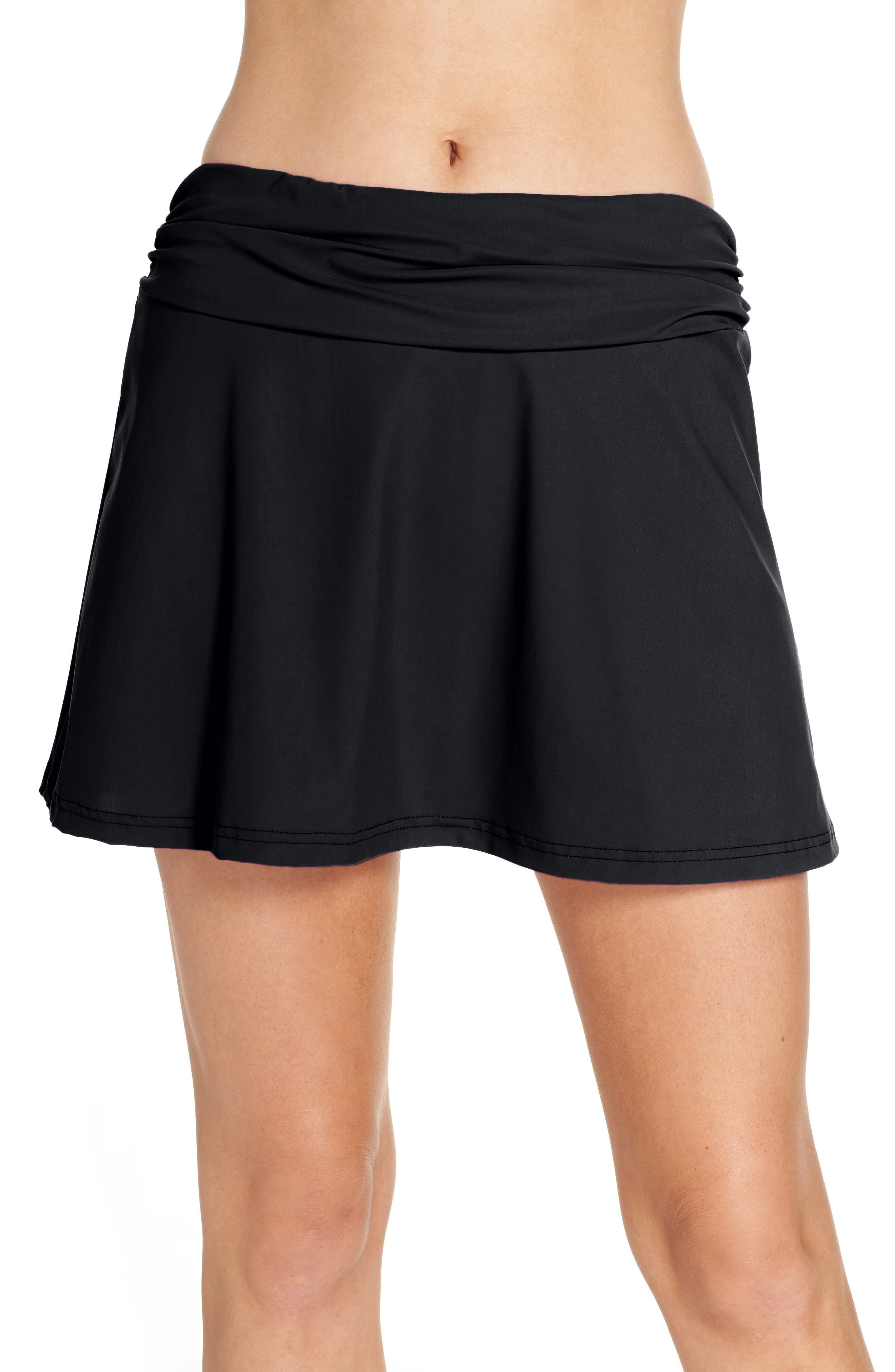 Cover-Up Skirt,                         Main,                         color, BLACK