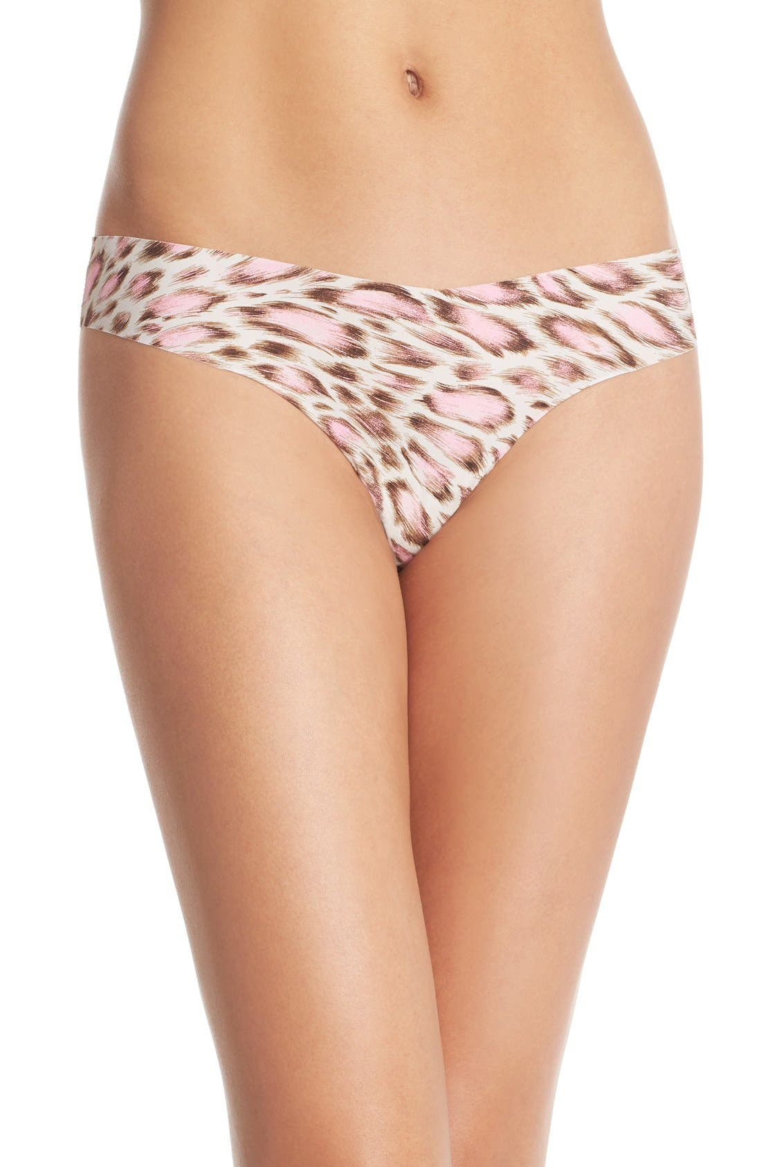 Print Microfiber Thong,                             Main thumbnail 90, color,