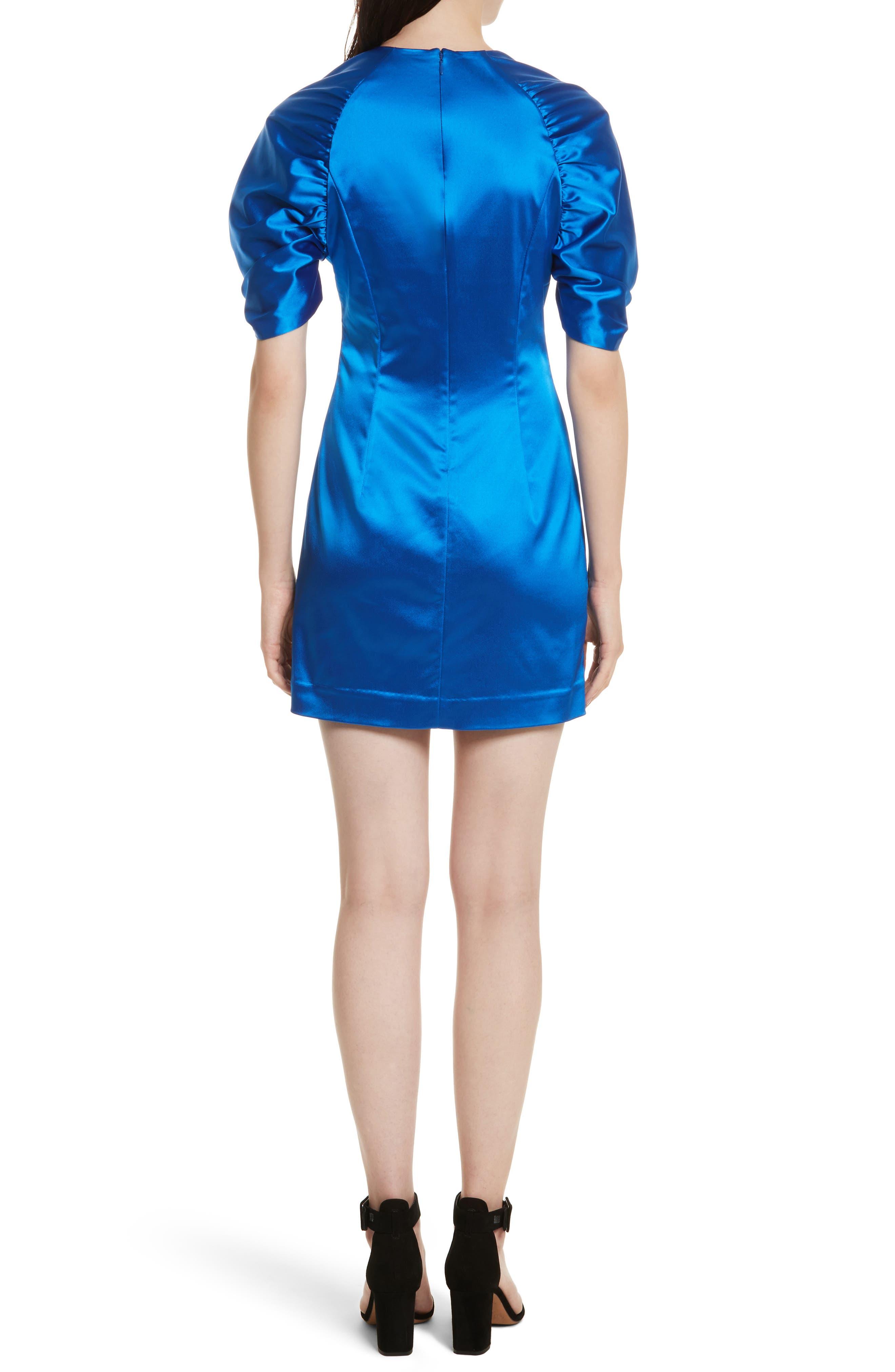 Sloan Duchess Satin Dress,                             Alternate thumbnail 2, color,                             435