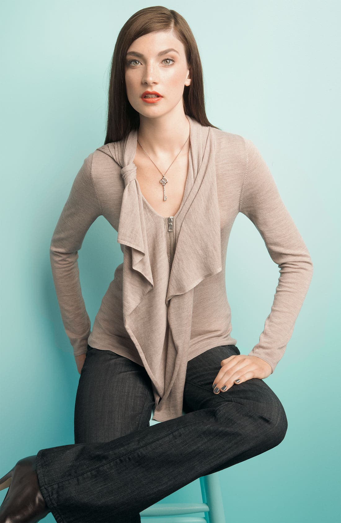 'Lydia' Merino Wool Sweater,                             Alternate thumbnail 2, color,                             001