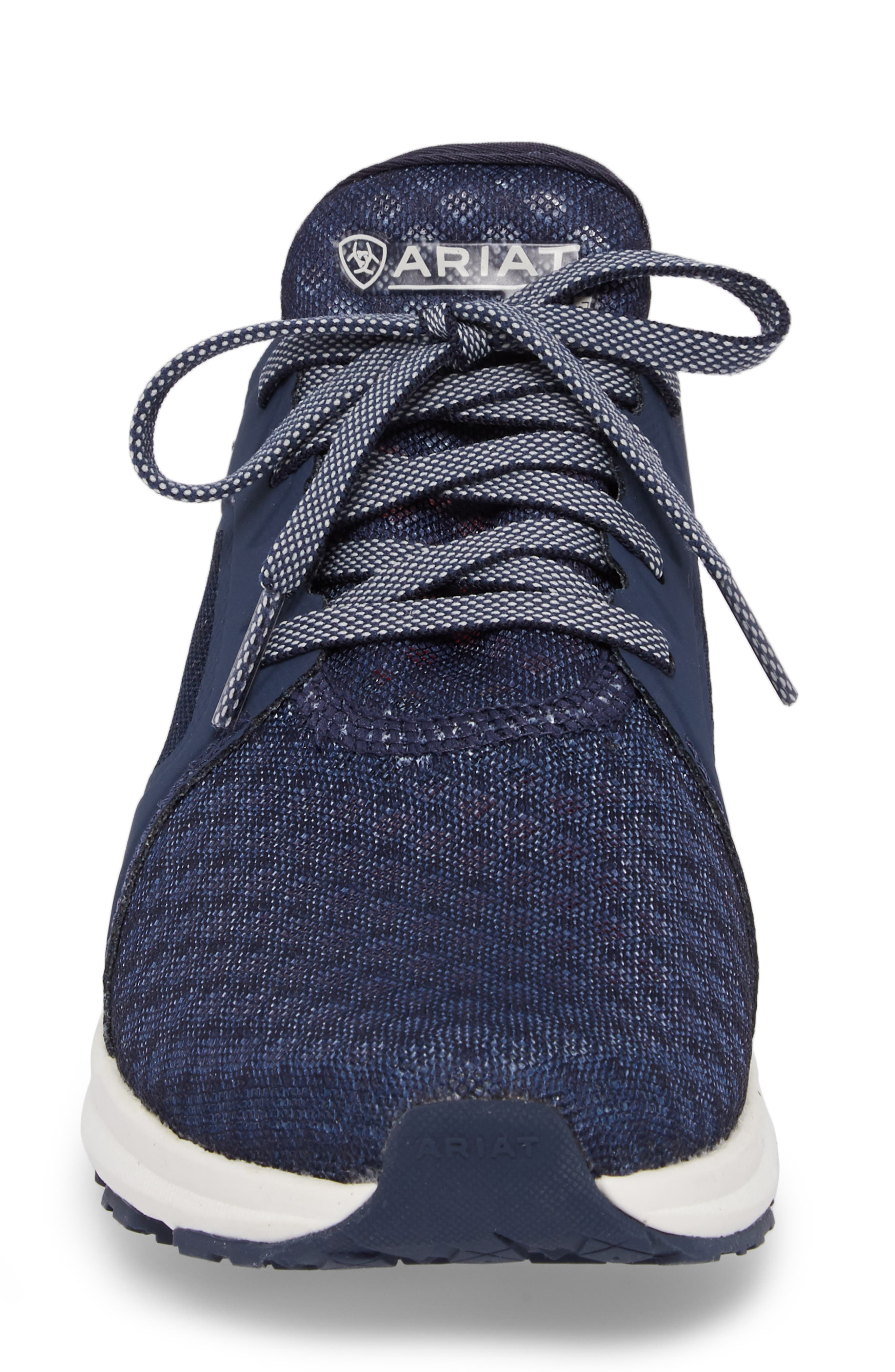 Fuse Print Sneaker,                             Alternate thumbnail 4, color,                             TEAM NAVY FABRIC