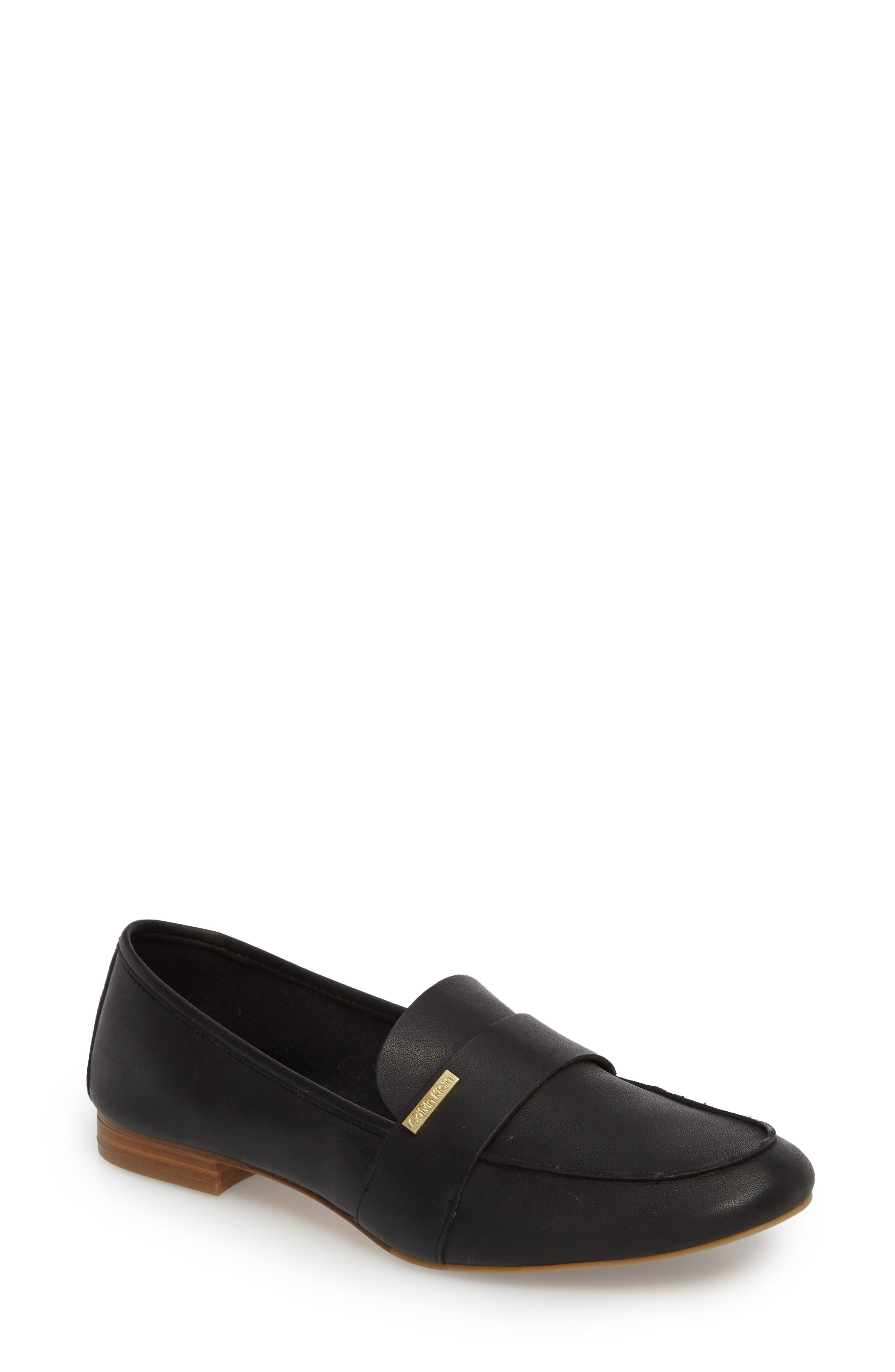 Cemmie Loafer,                         Main,                         color, BLACK LEATHER