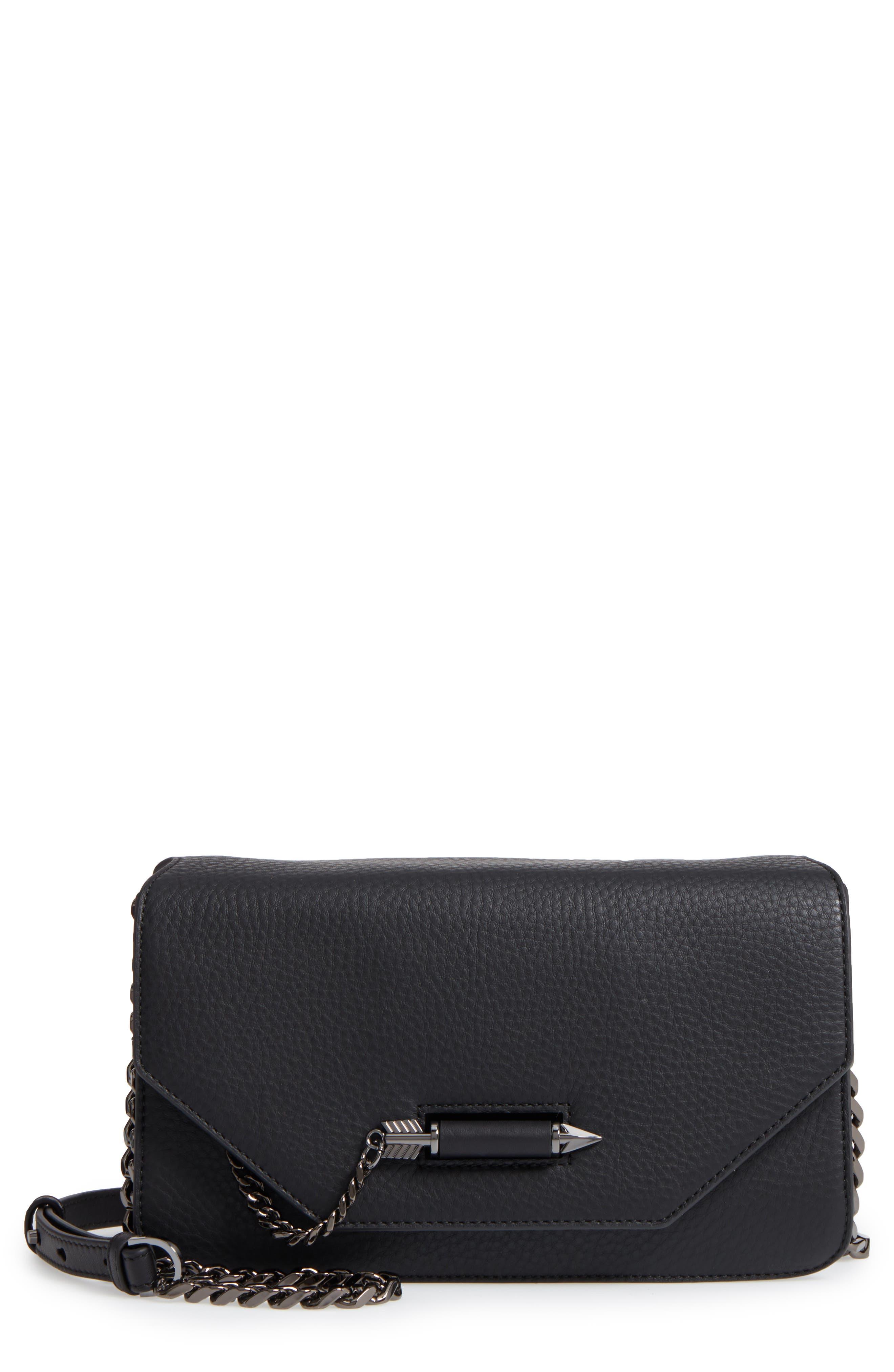 Cortney Nappa Leather Shoulder/Crossbody Bag,                             Main thumbnail 1, color,