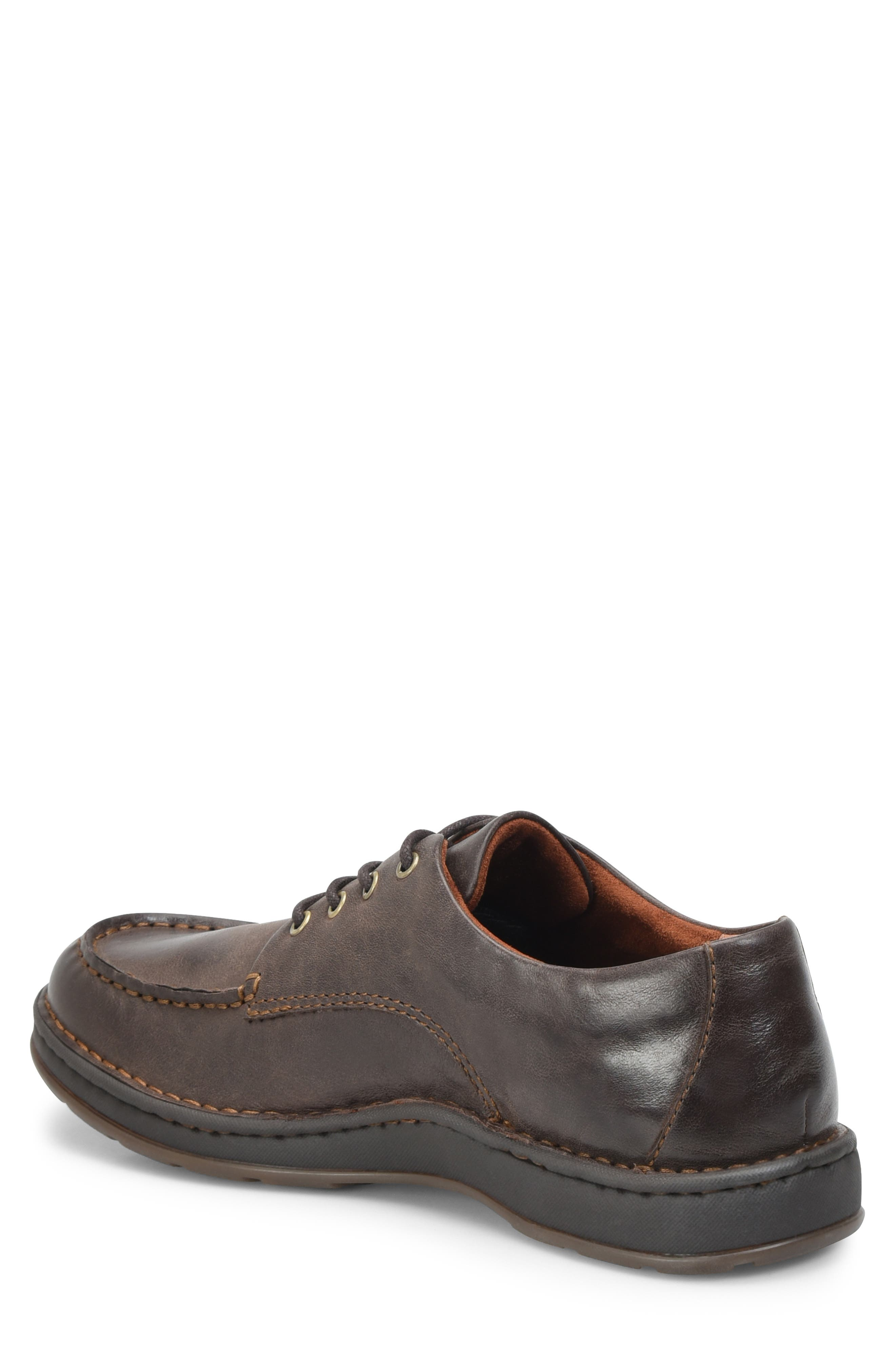 Leon Moc Toe Derby,                             Alternate thumbnail 2, color,                             DARK BROWN LEATHER
