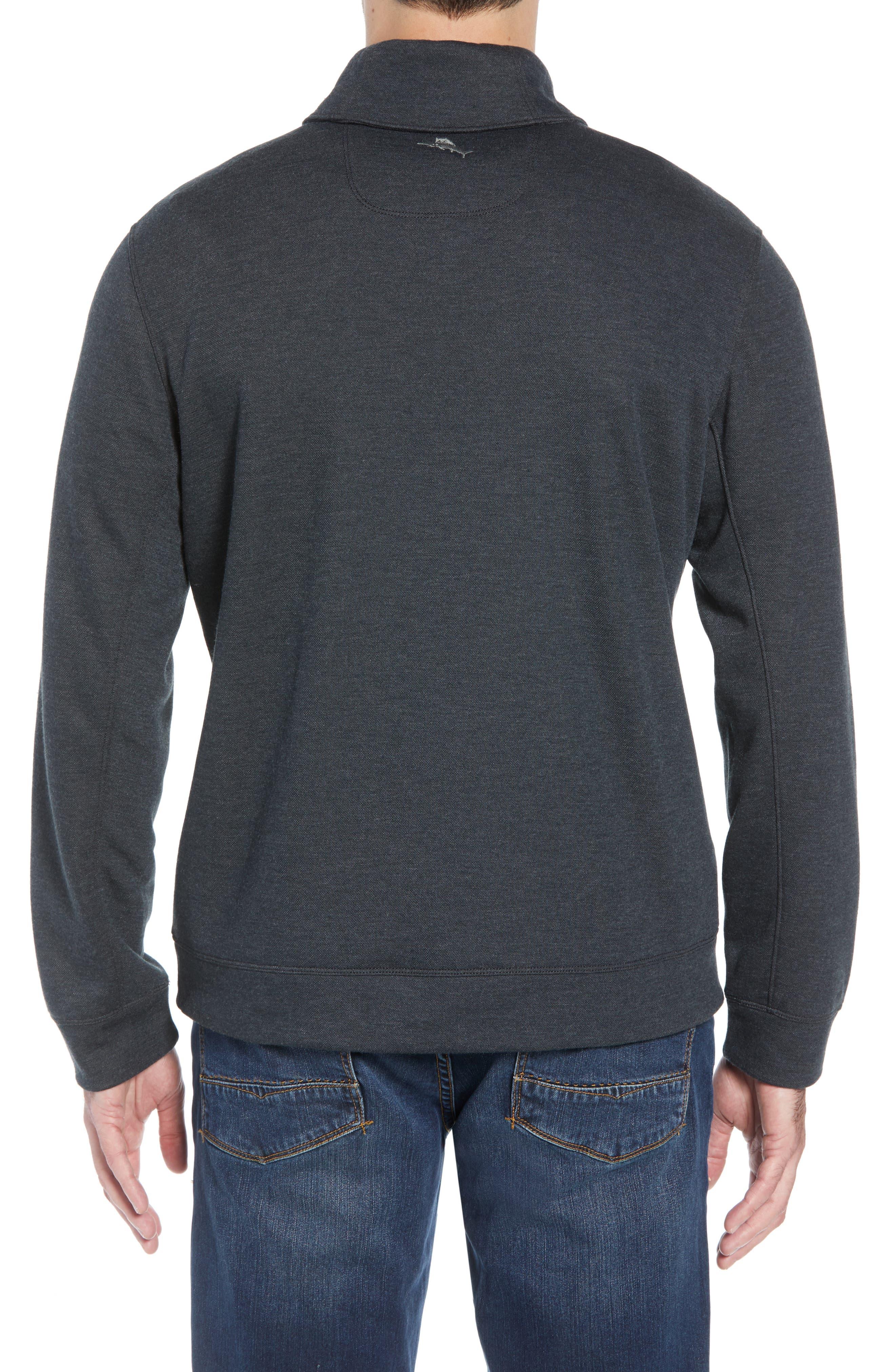 Sandbar Shawl Collar Regular Fit Pullover,                             Alternate thumbnail 2, color,                             COAL