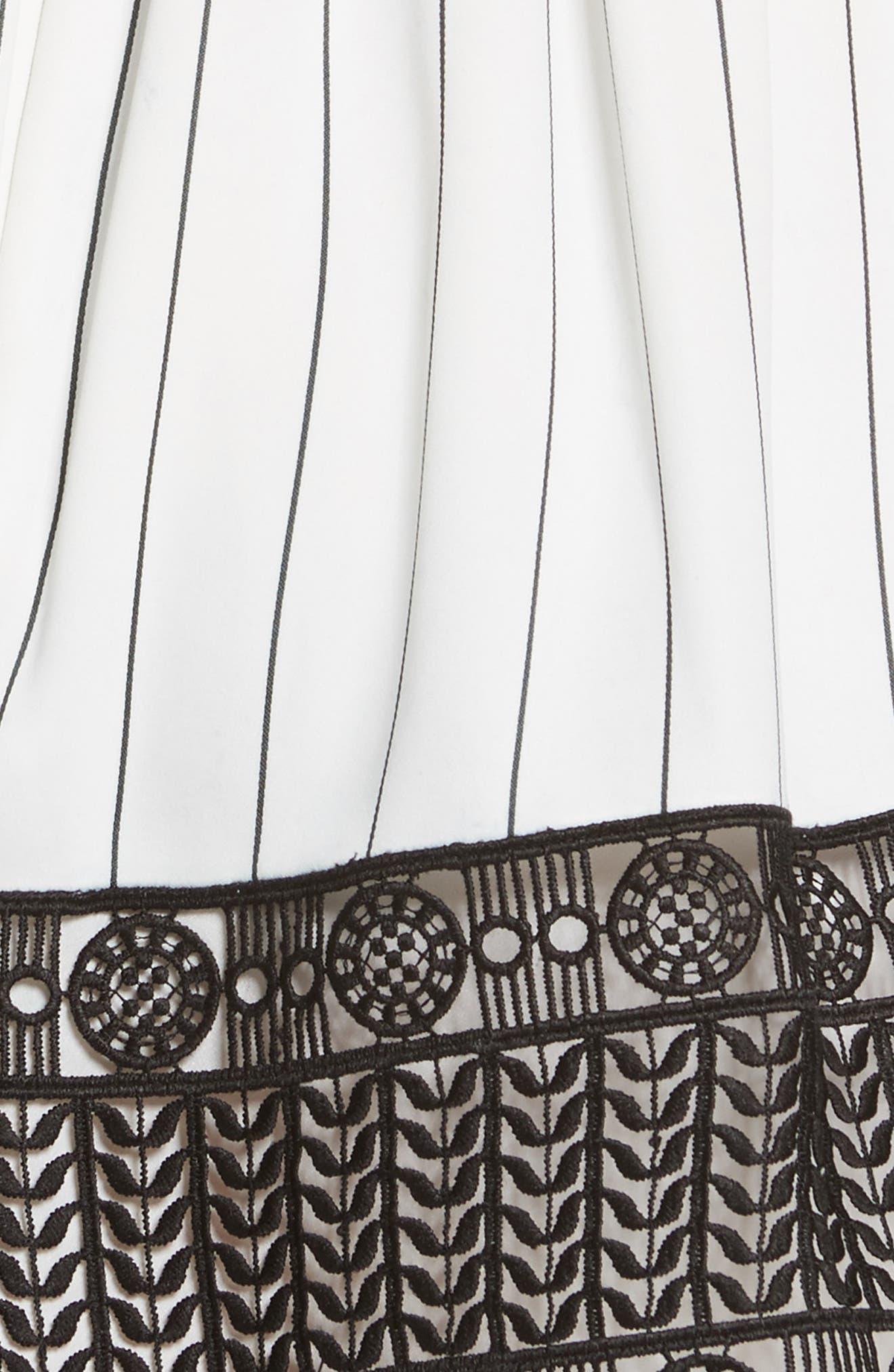 Lace Trim Handkerchief Hem Dress,                             Alternate thumbnail 5, color,