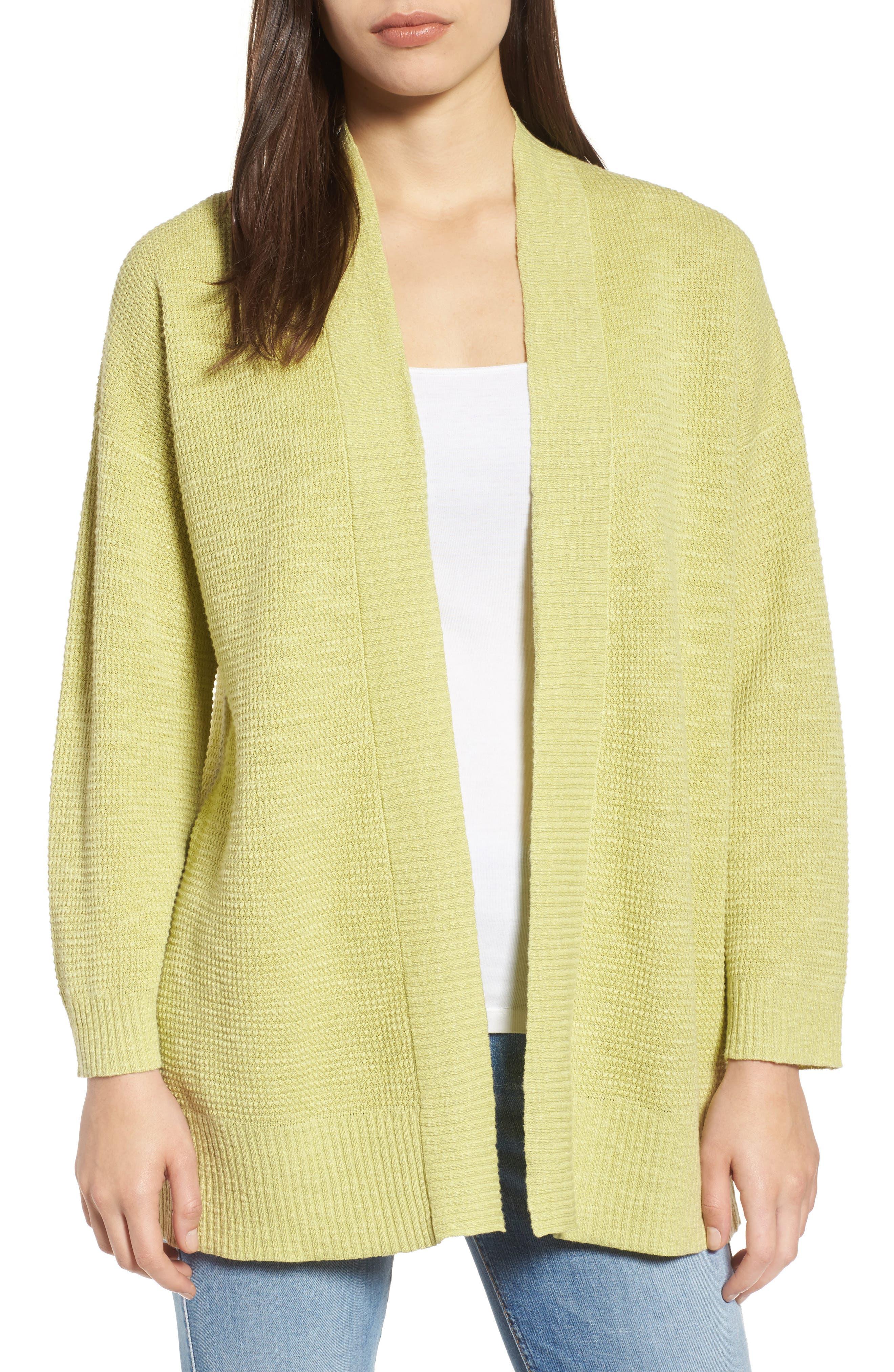 Organic Linen & Cotton Cardigan,                             Main thumbnail 1, color,
