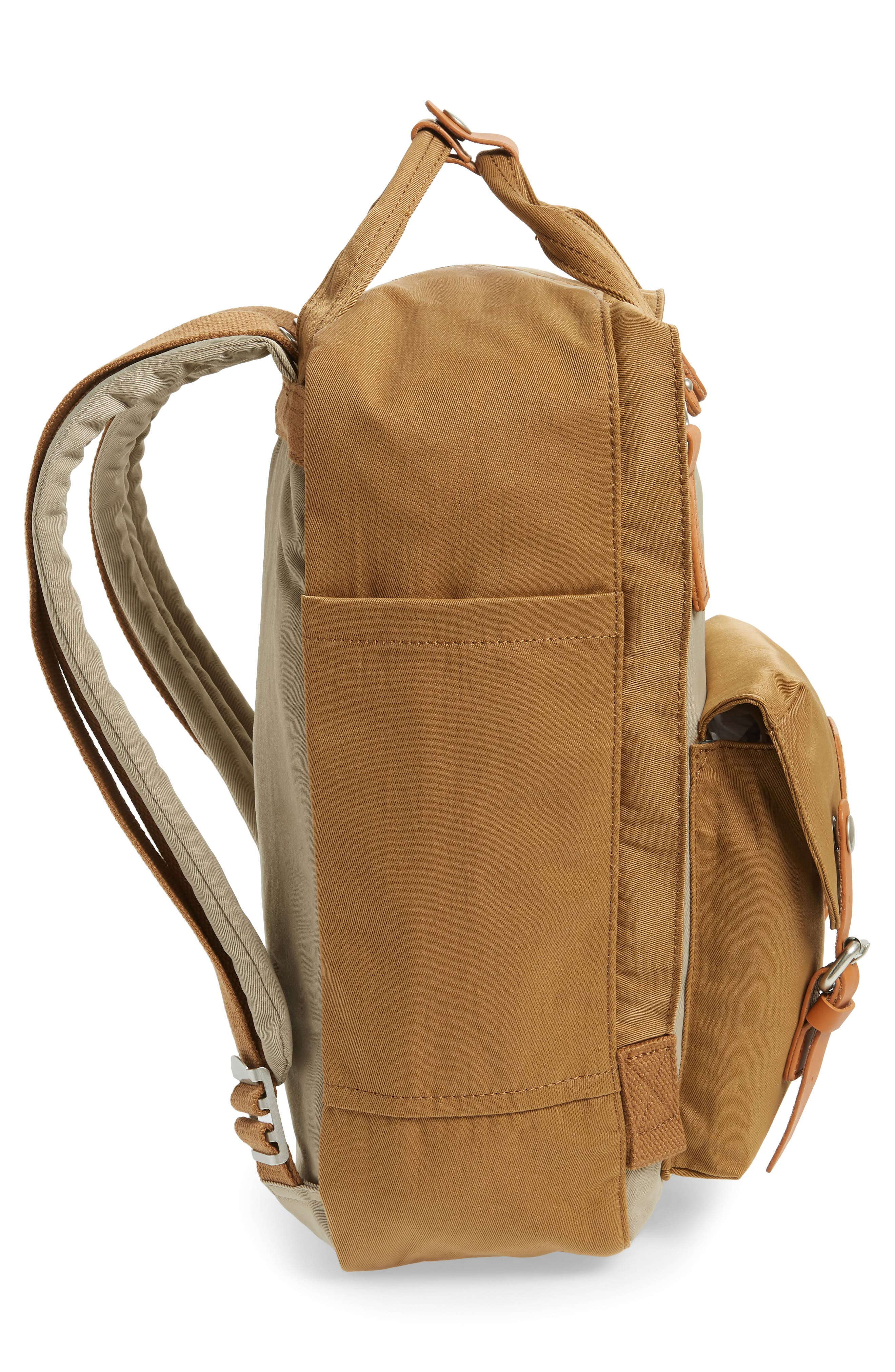 Macaroon Colorblock Backpack,                             Alternate thumbnail 5, color,                             BEIGE/ KHAKI
