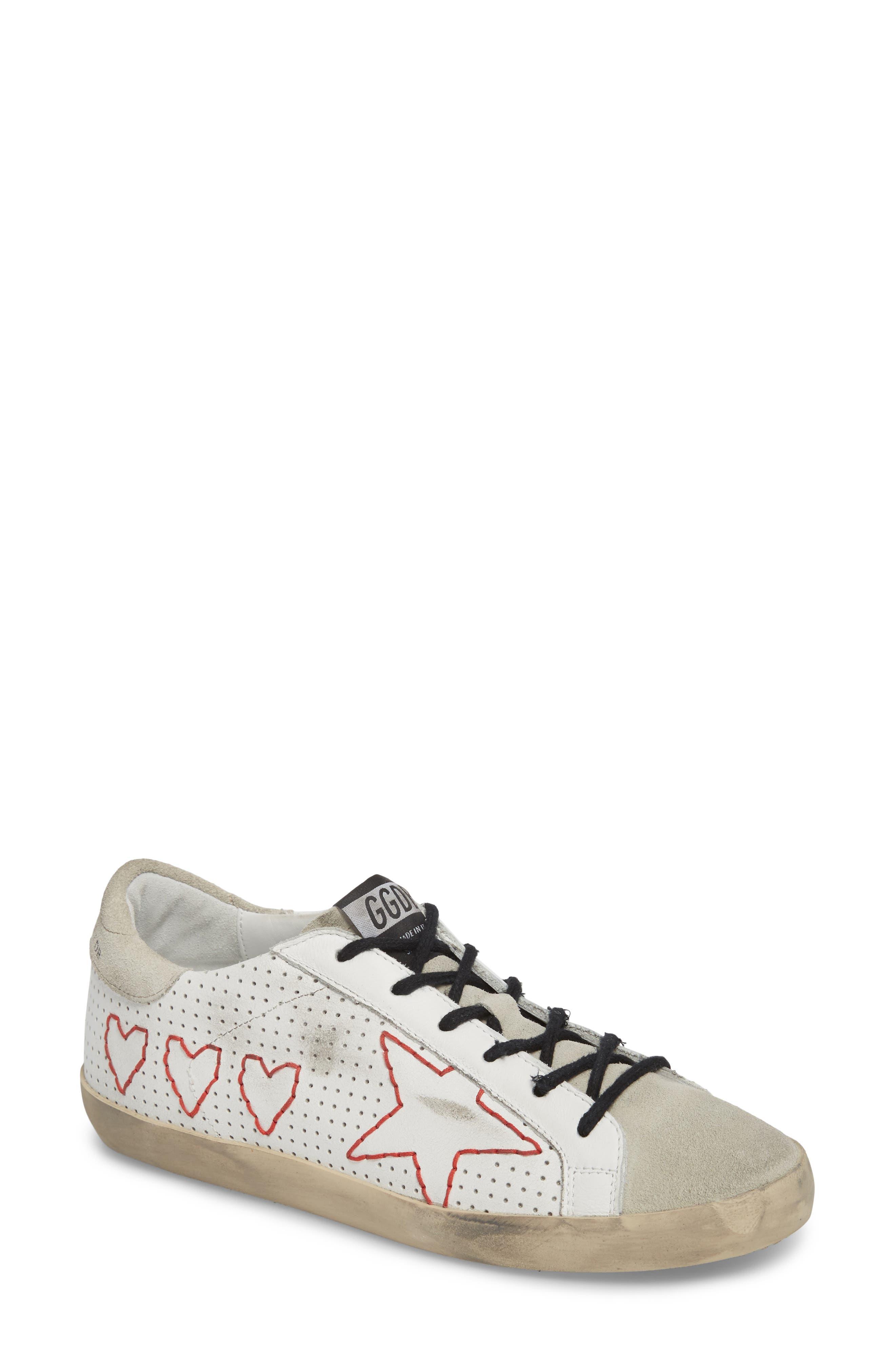 Superstar Heart Sneaker,                             Main thumbnail 1, color,                             100