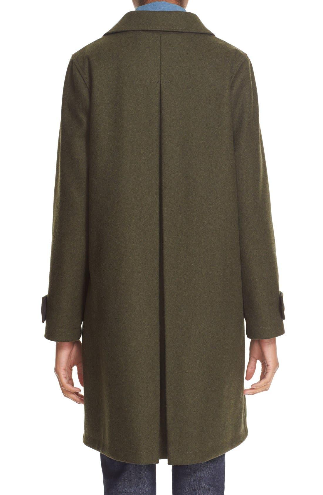 'Dinard' Wool Blend Mac Coat,                             Alternate thumbnail 2, color,                             300