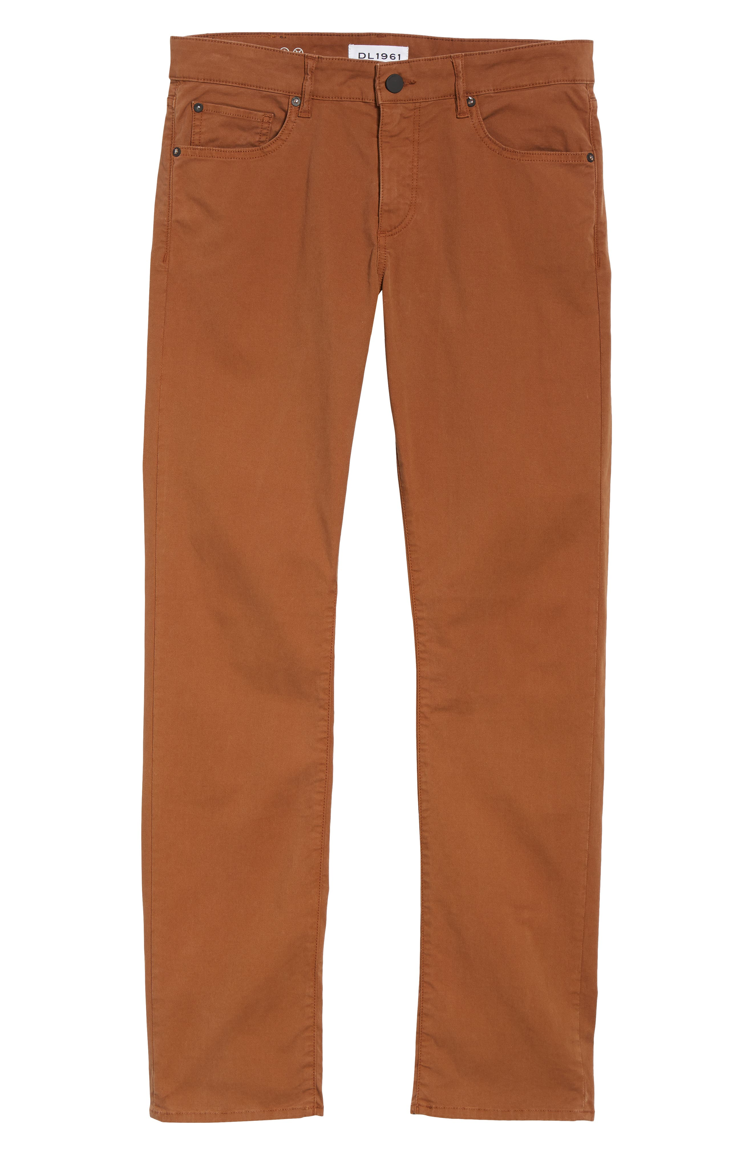 Russell Slim Straight Leg Jeans,                             Alternate thumbnail 6, color,                             TERRACOTTA