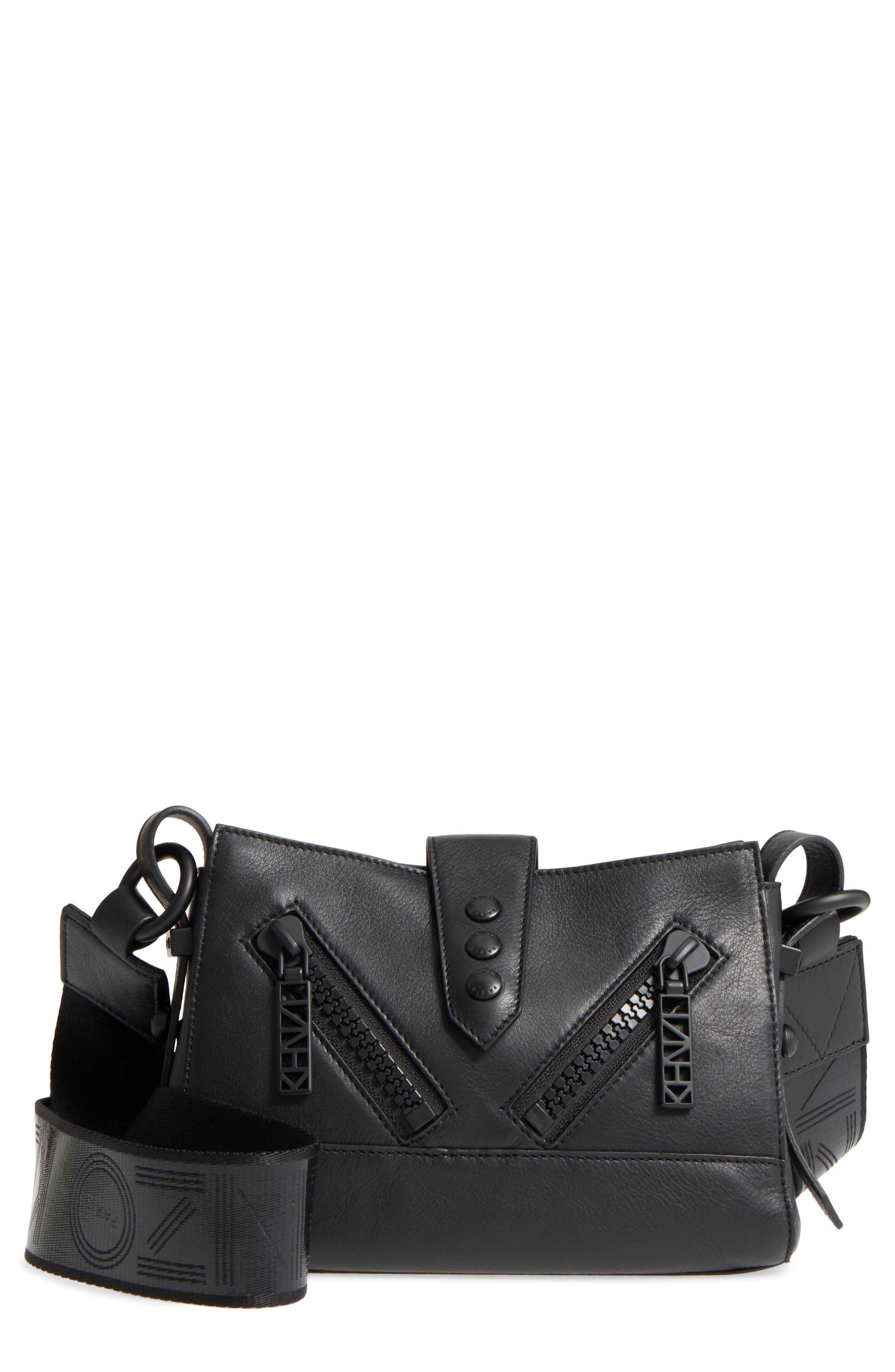 Mini Kalifornia Leather Shoulder Bag,                             Main thumbnail 1, color,                             001