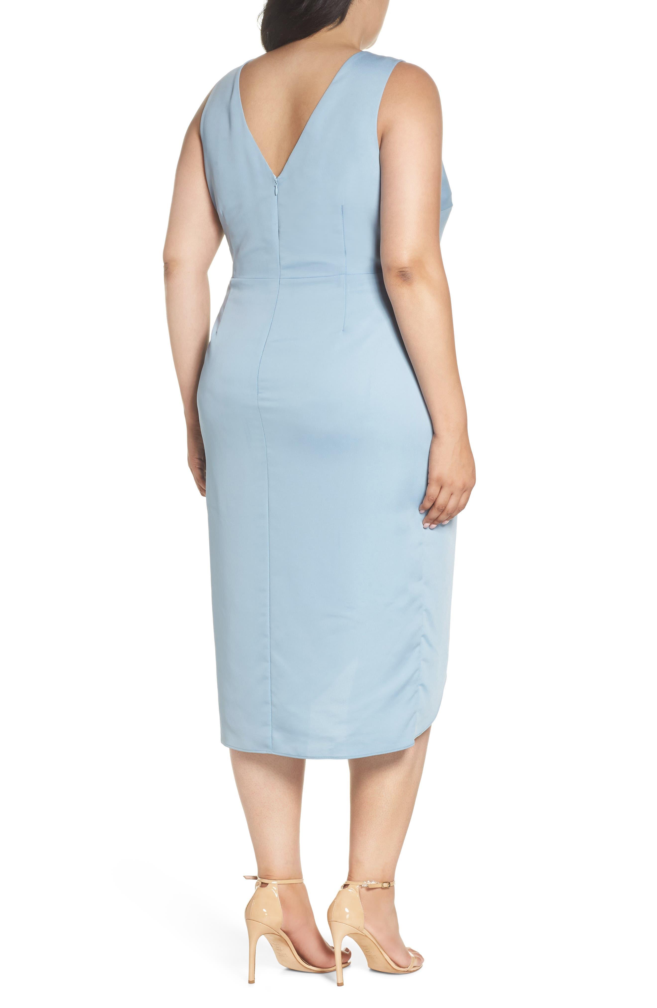 Florence Drape Sheath Dress,                             Alternate thumbnail 2, color,