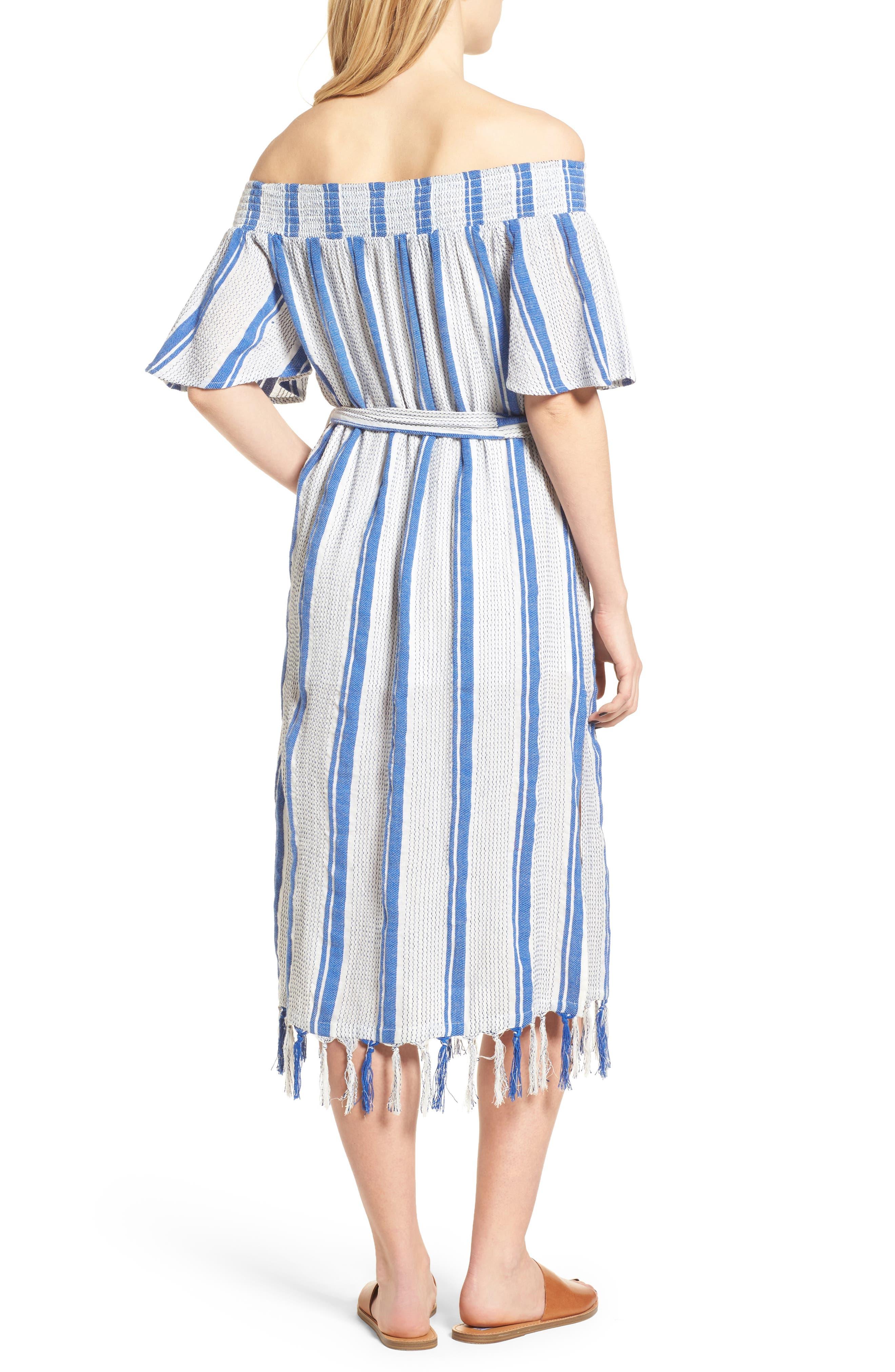 Bora Bora Tie Waist Dress,                             Alternate thumbnail 2, color,                             100