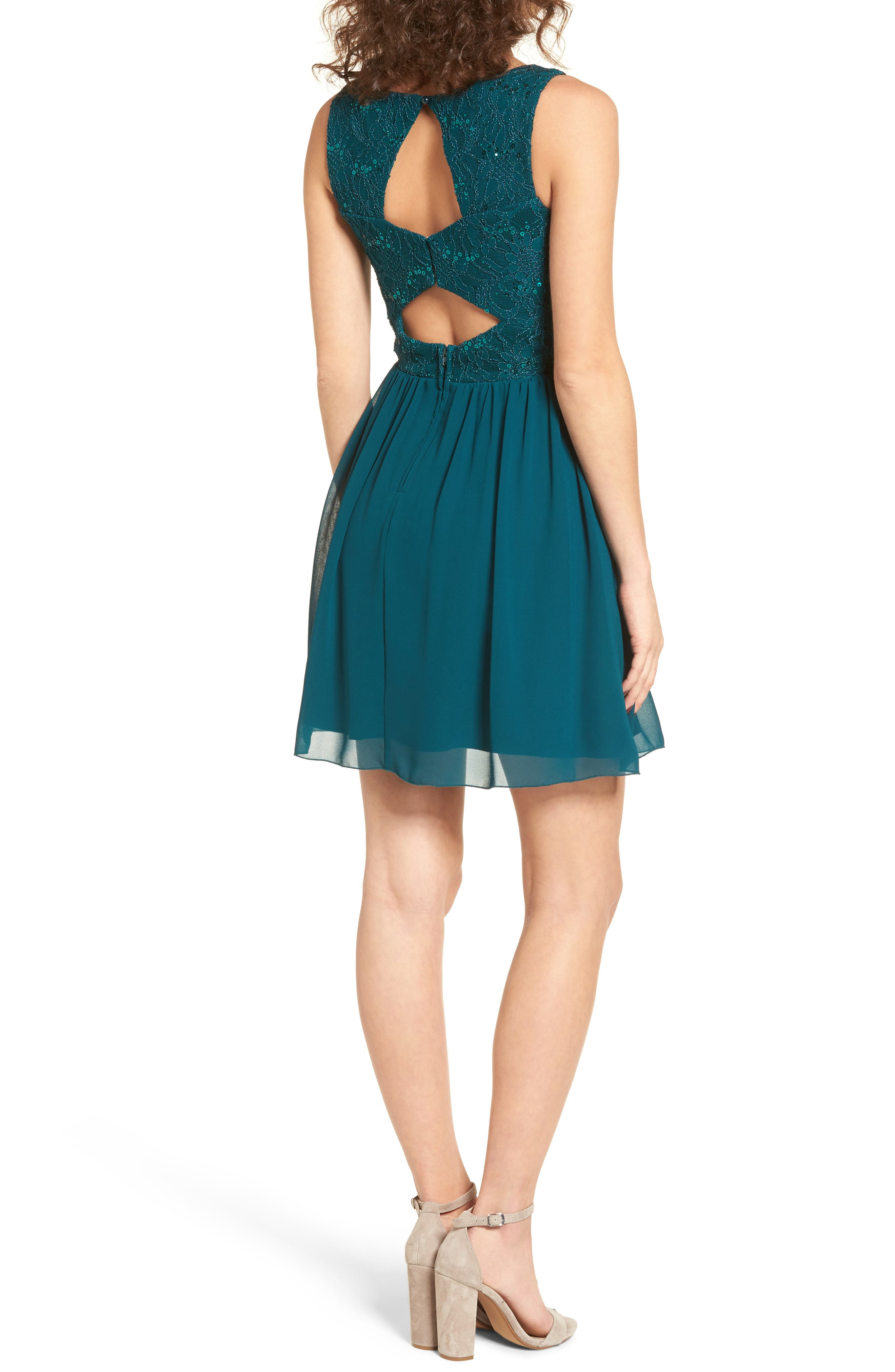 Jeweled Belt Dress,                             Alternate thumbnail 3, color,